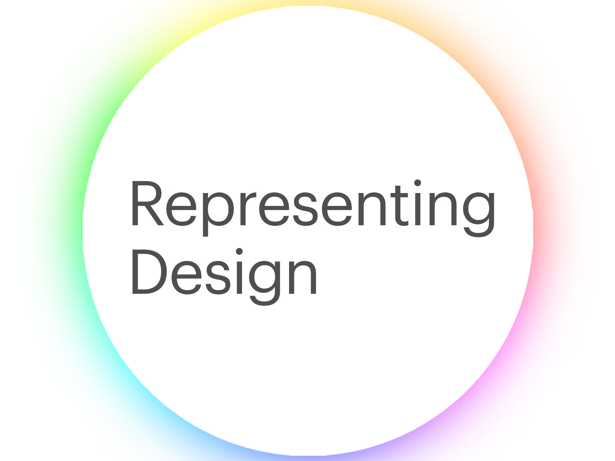 Cover image: Representing Design