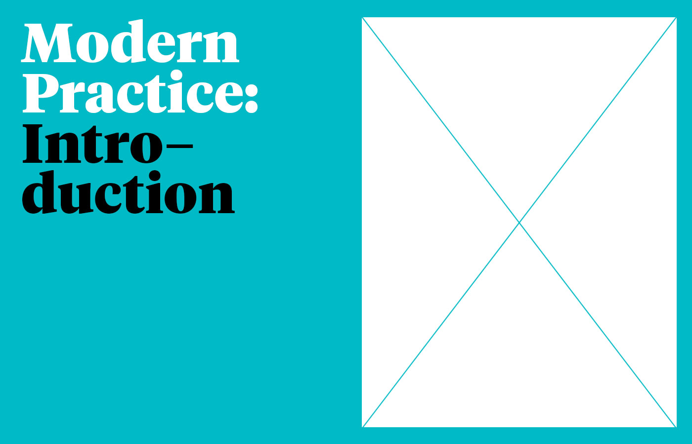 Cover image: Modern Practice