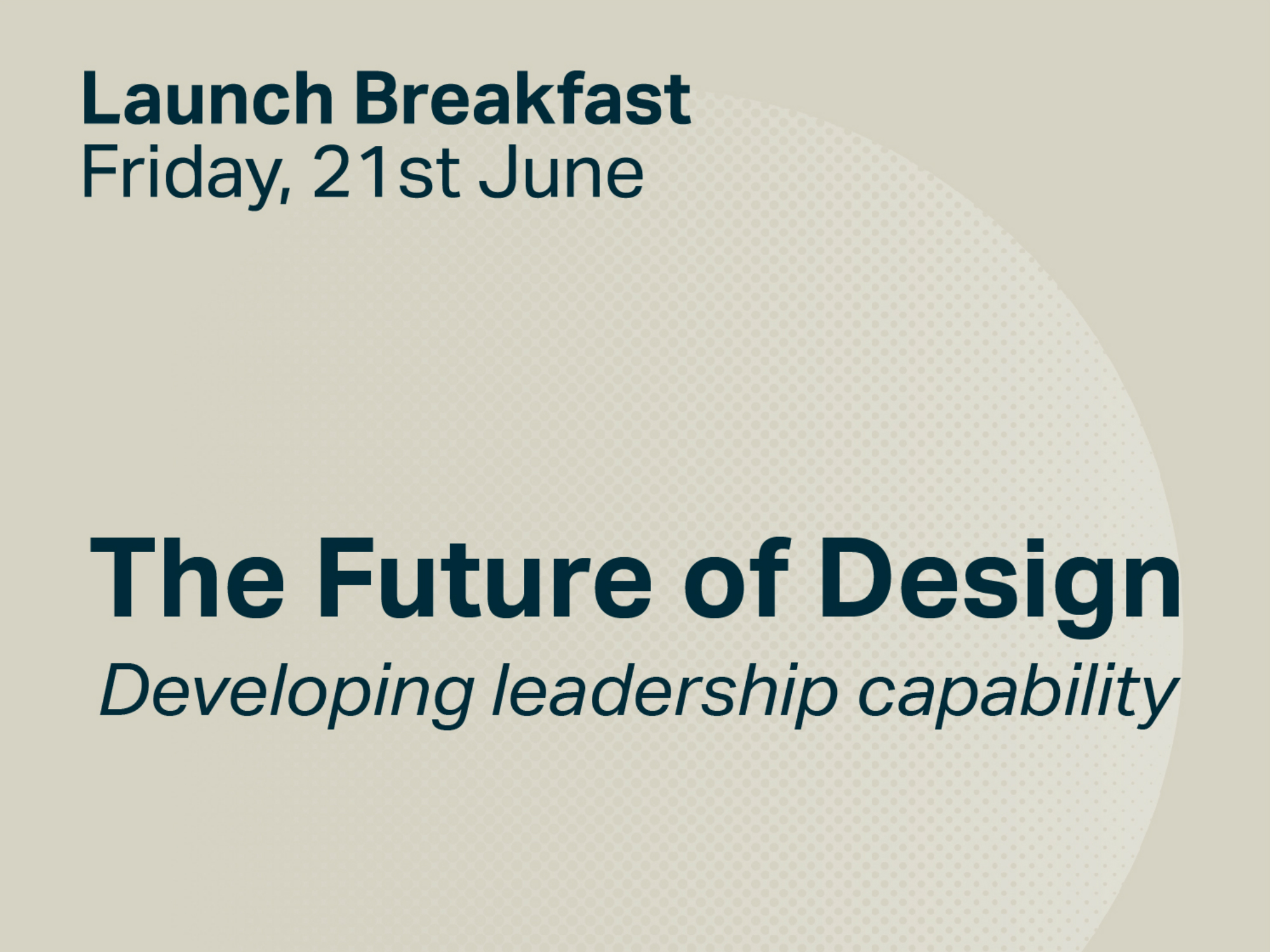Cover image: The Future of Design: Launch Breakfast