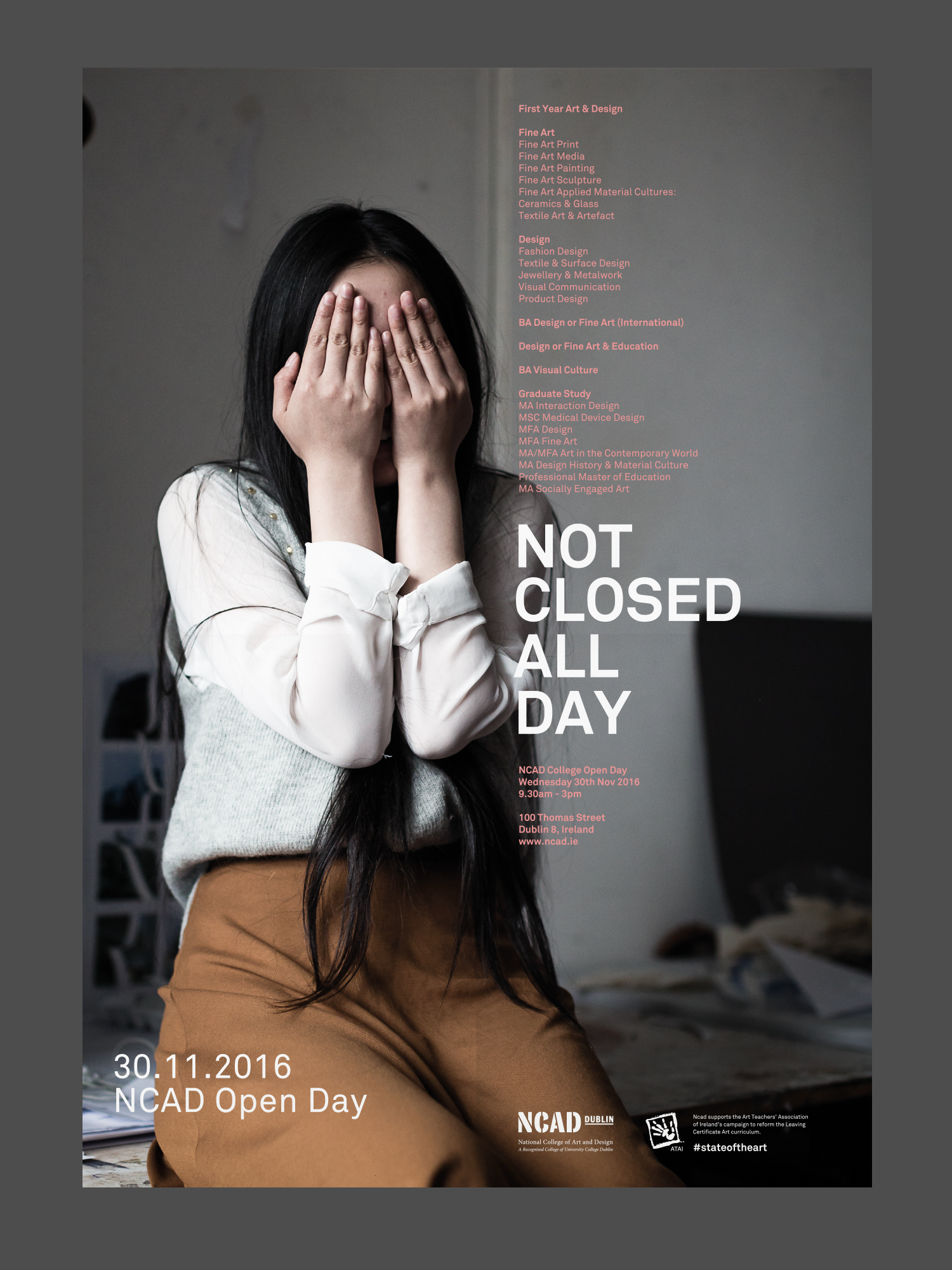 Cover image: NCAD Open Day Poster