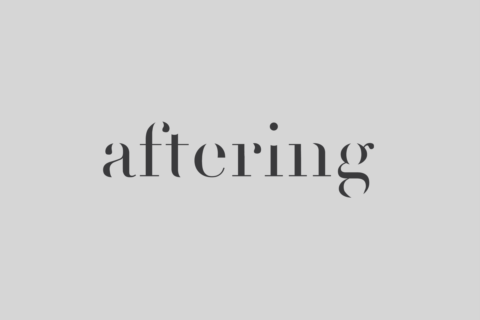 Cover image: Aftering (2014)