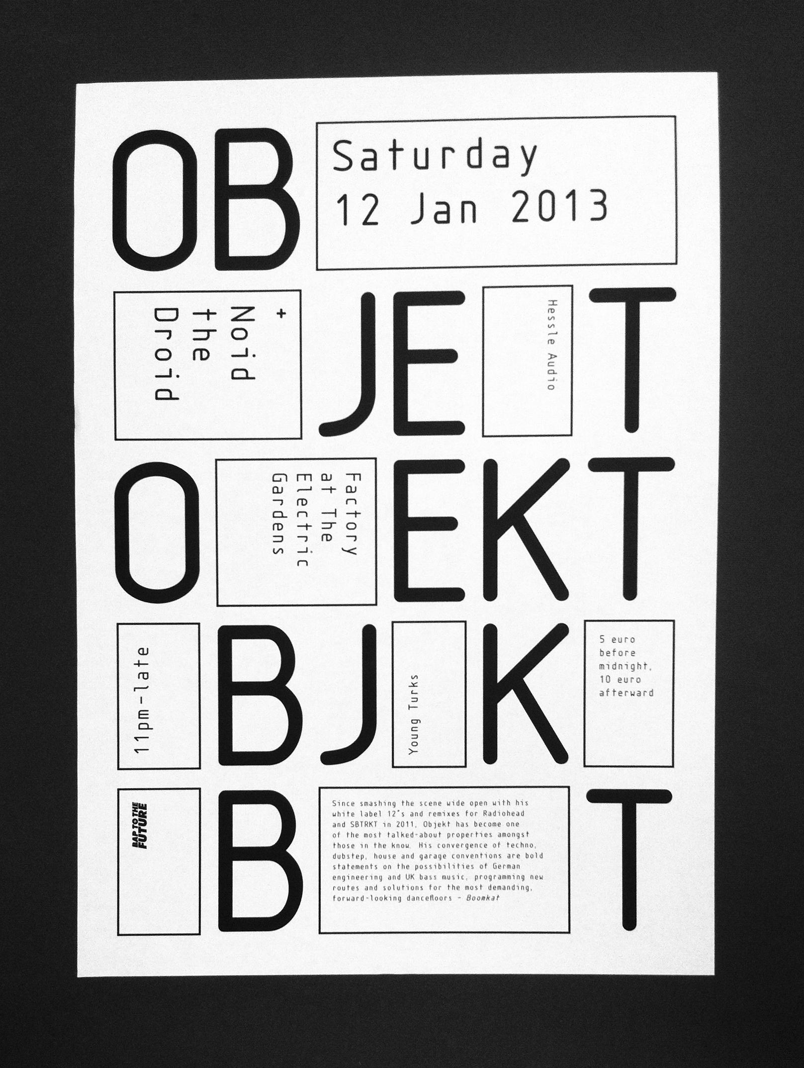 Cover image: Objekt –2013