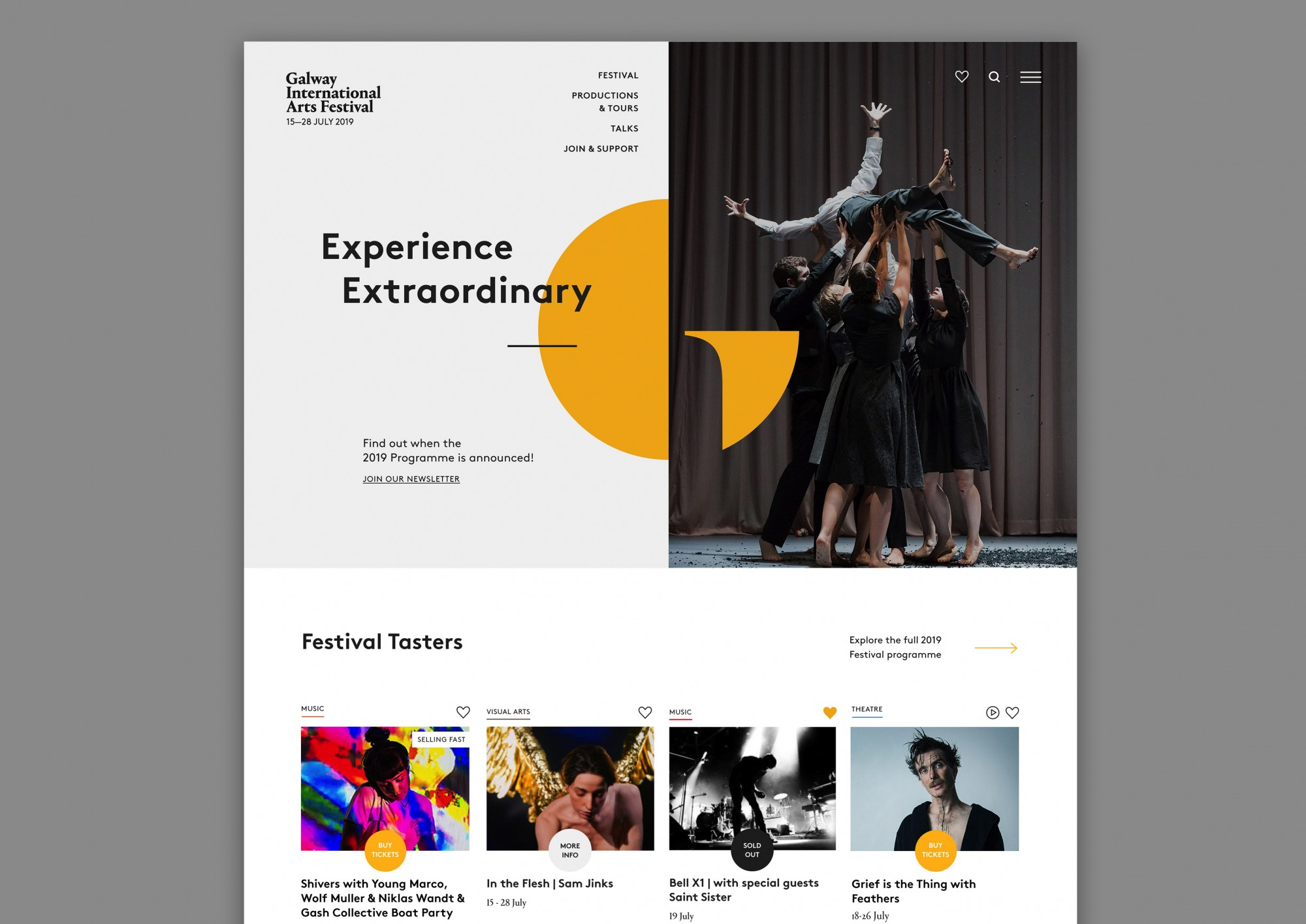 Cover image: Galway International Arts Festival (2019)