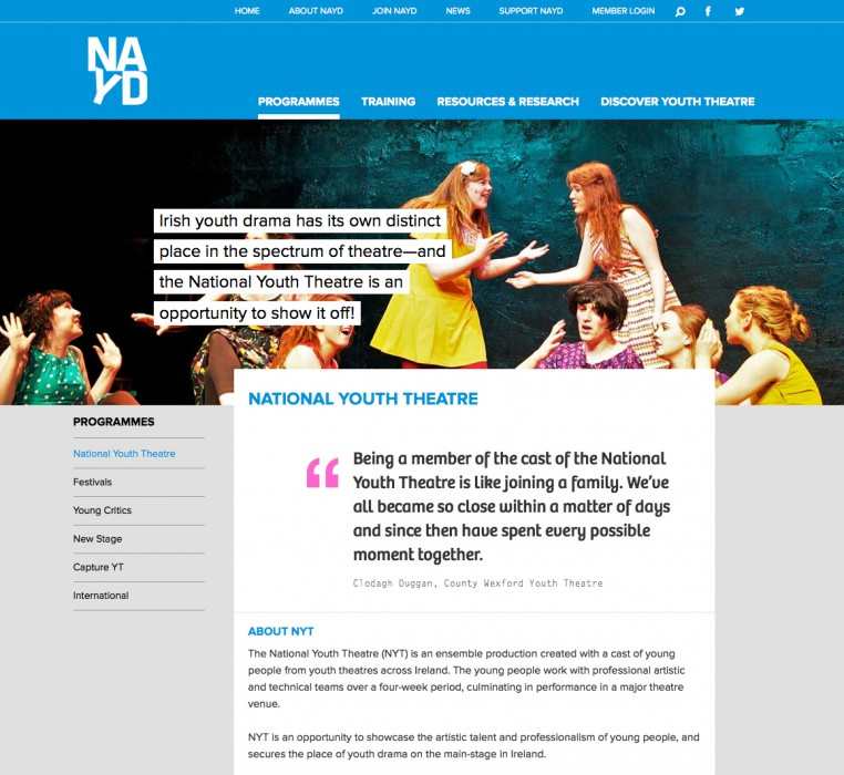 Cover image: National Association of Youth Drama (NAYD)