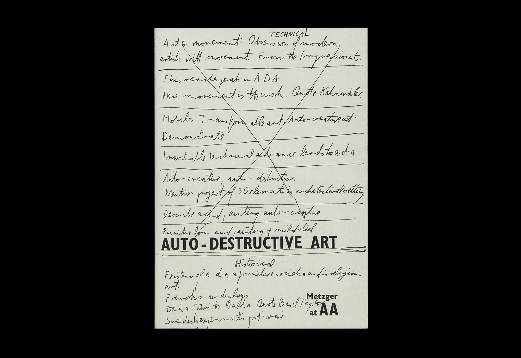 Cover image: Auto-Destructive Art: Metzger at AA (2015)