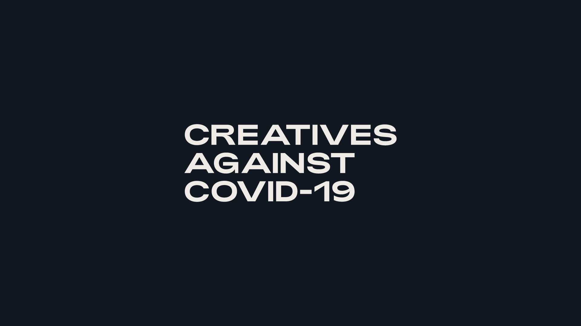 Cover image: Creatives Against Covid-19