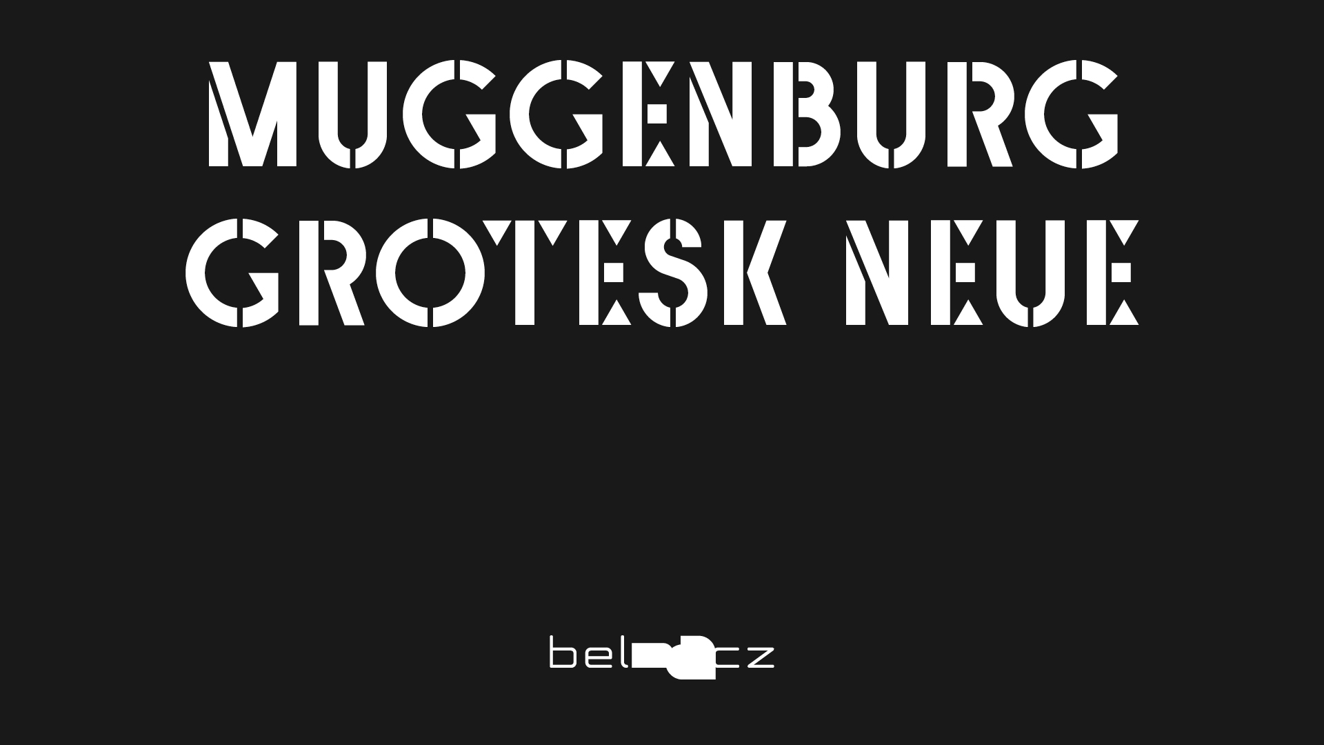 Cover image: Muggenburg Grotesk Neue