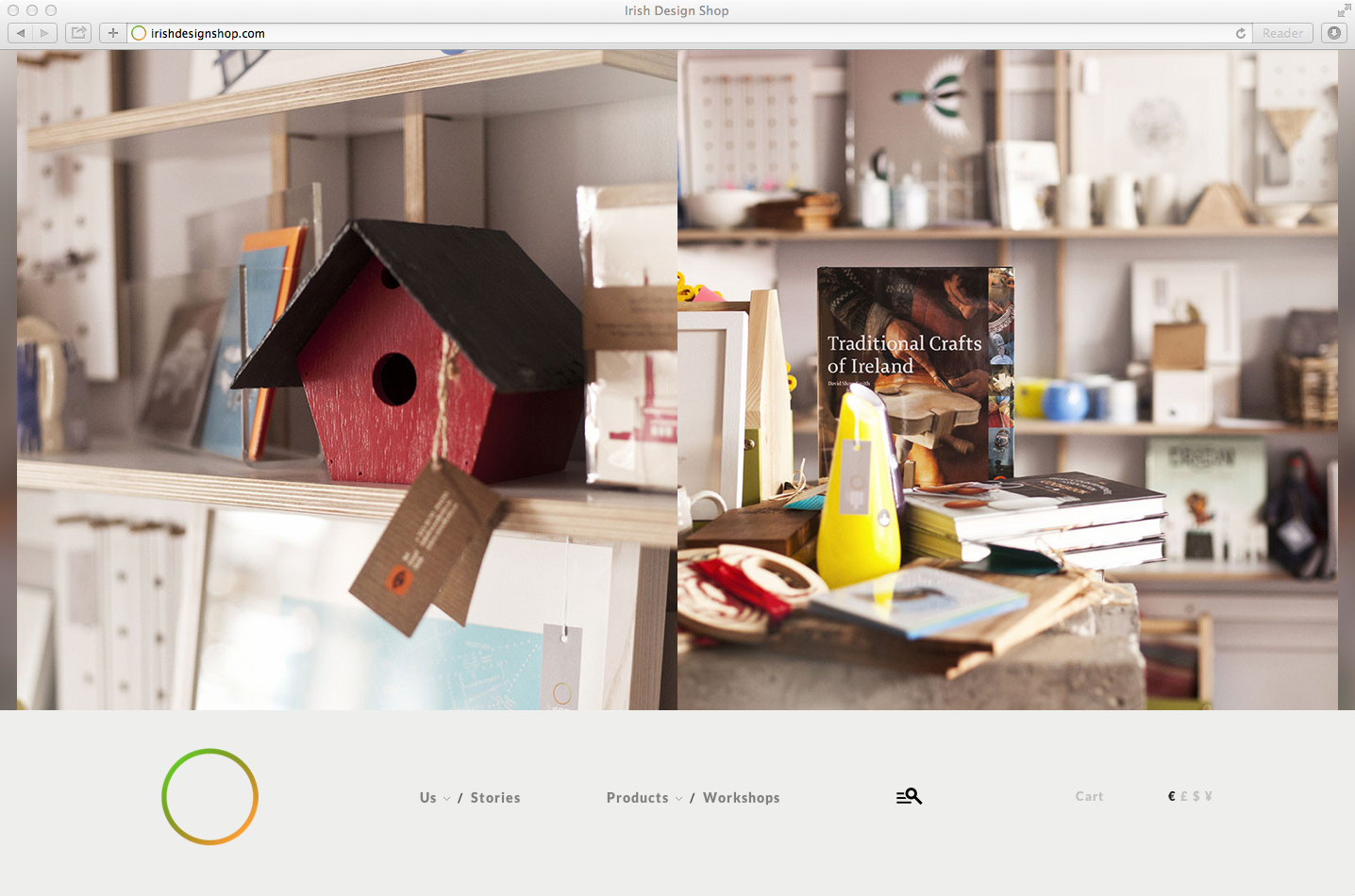 Cover image: Irish Design Shop – Website (2013)