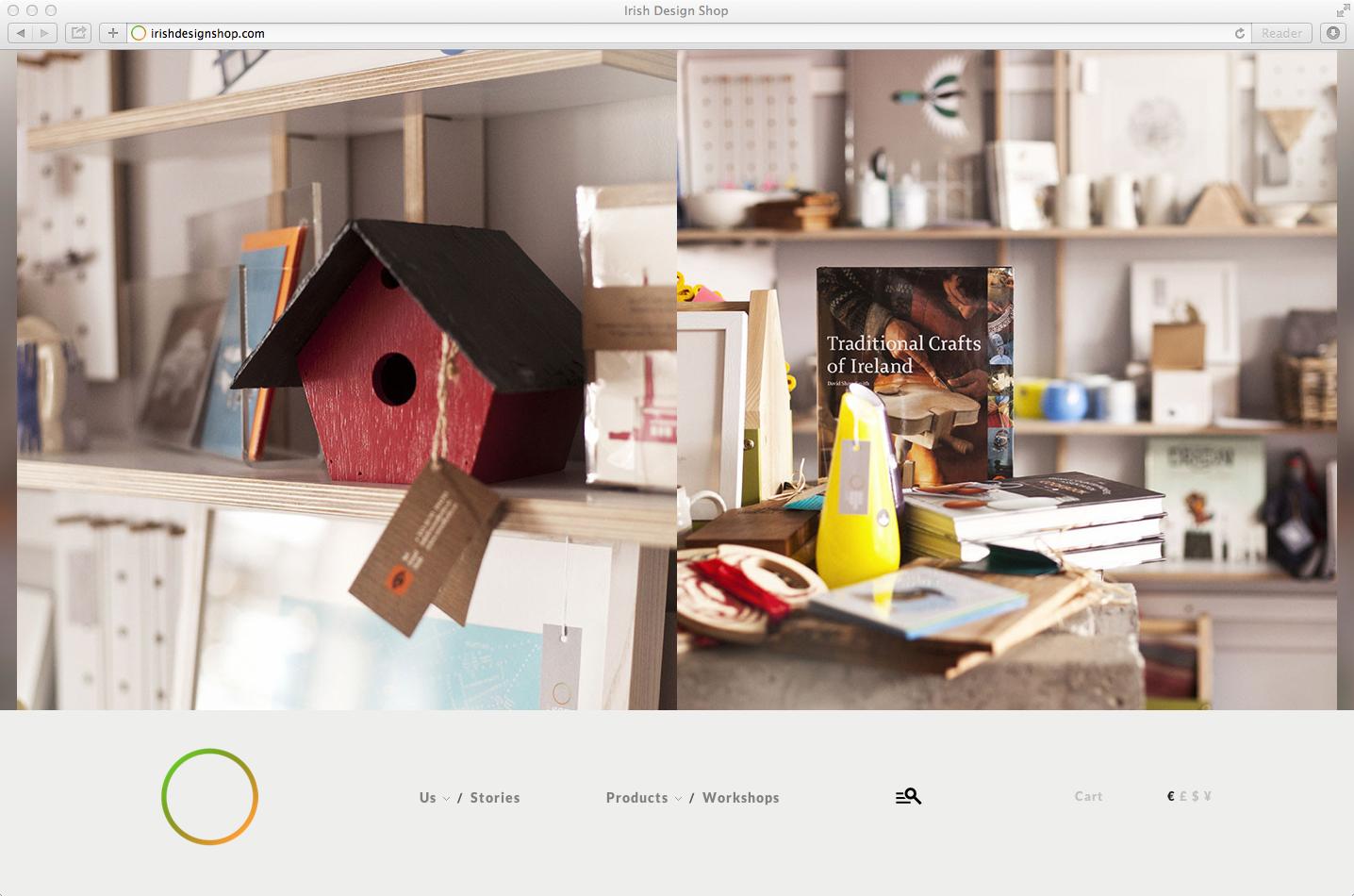 Cover image: Irish Design Shop –Website (2013)