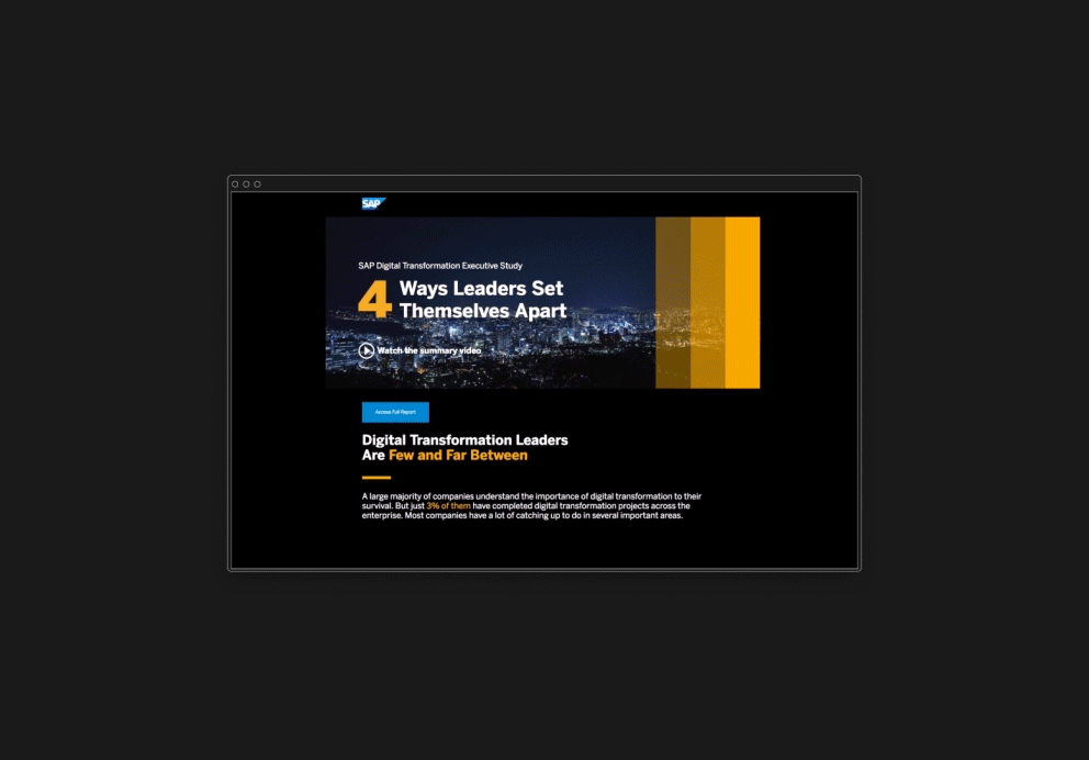 Cover image: SAP Digital Transformation