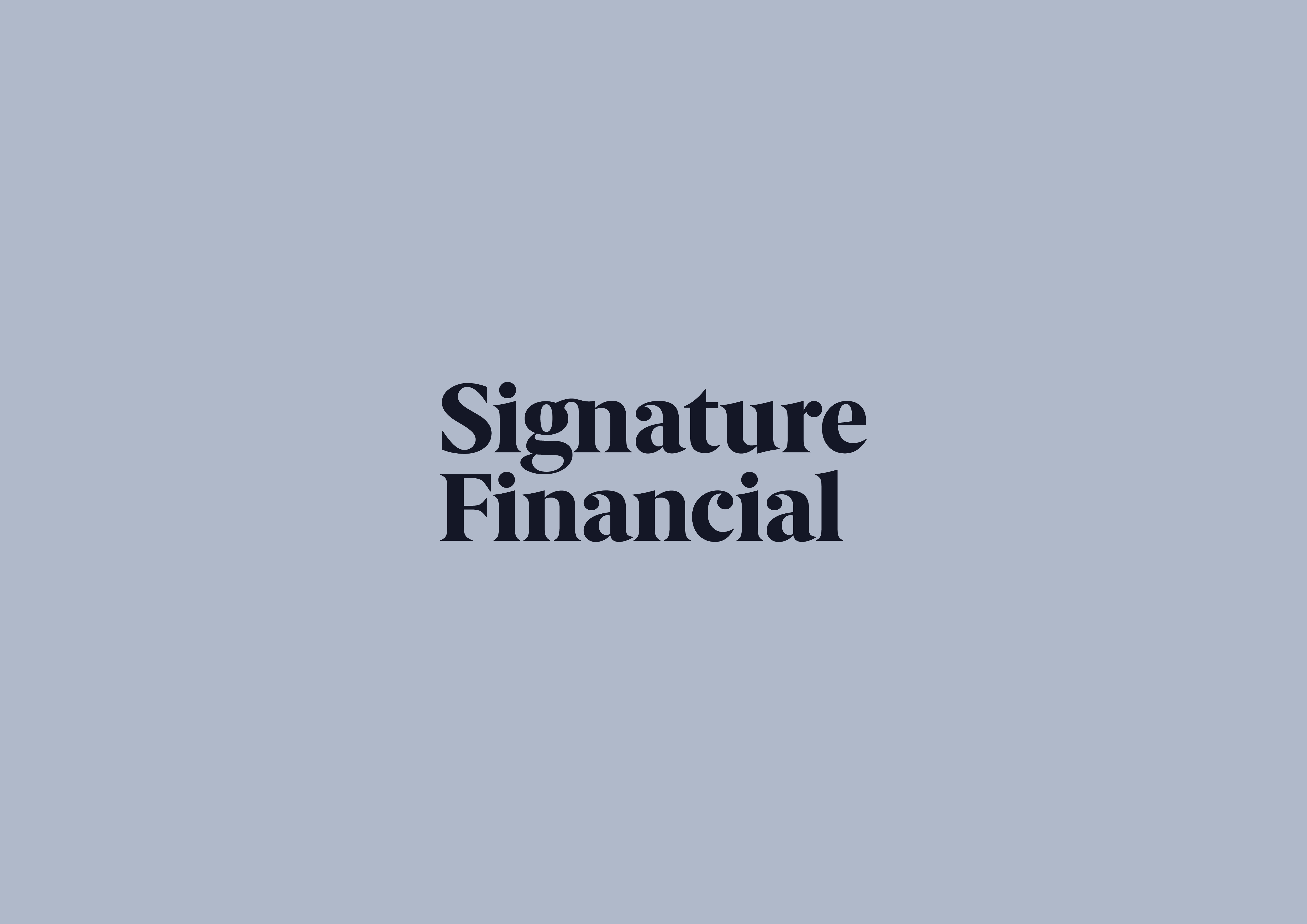 Cover image: Signature Financial