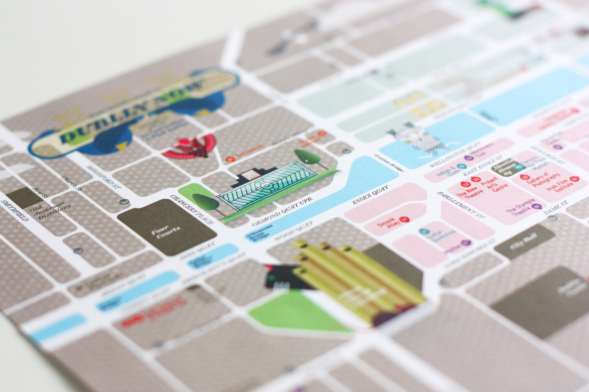 Cover image: Dublin City as a grid – Map (2014)