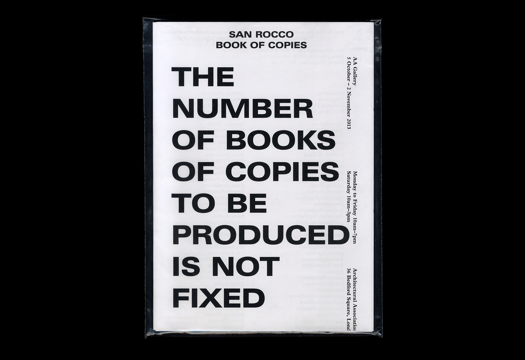 Cover image: San Rocco: Book of Copies (2013)