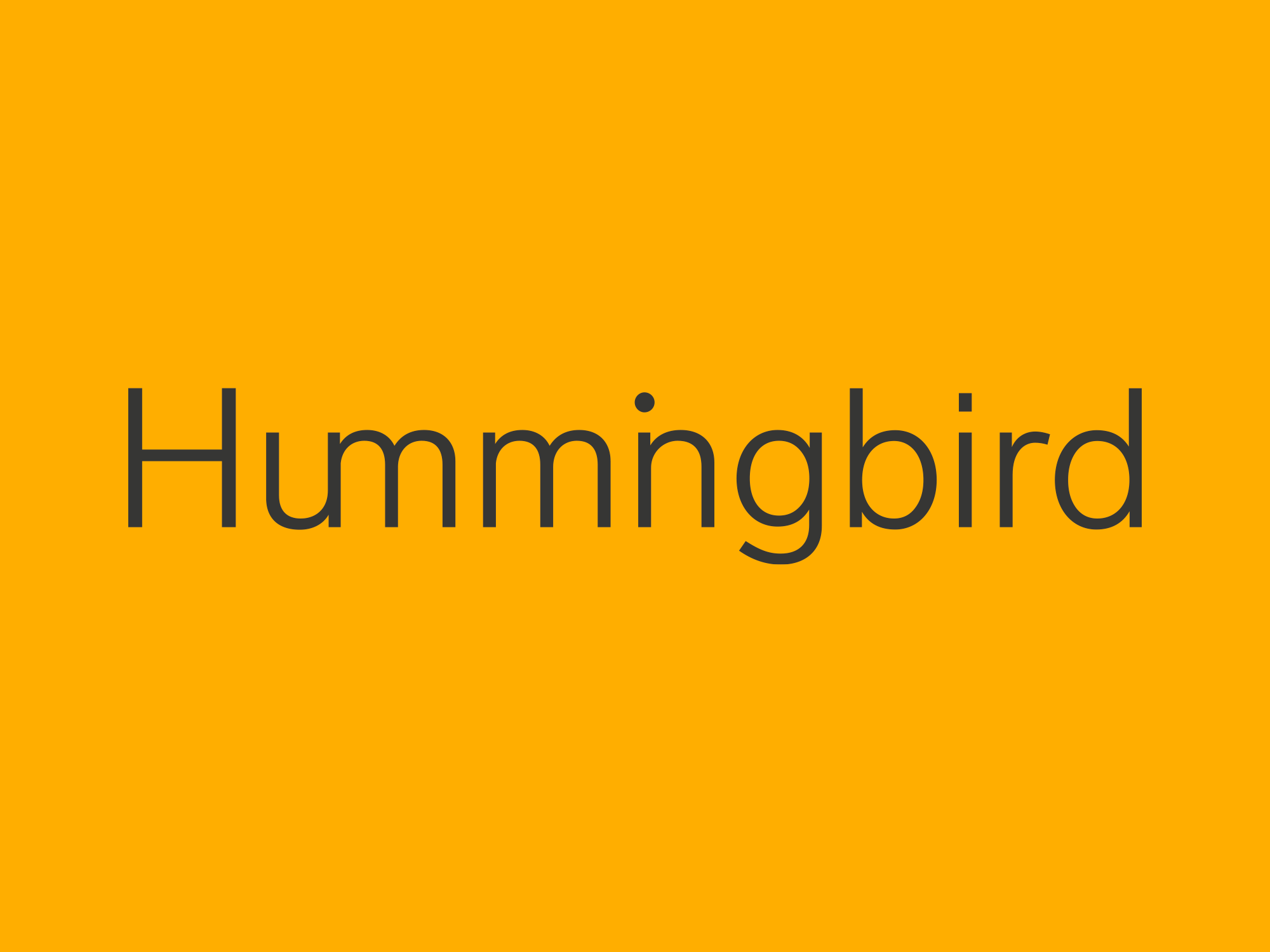 Cover image: Hummingbird Brand Identity