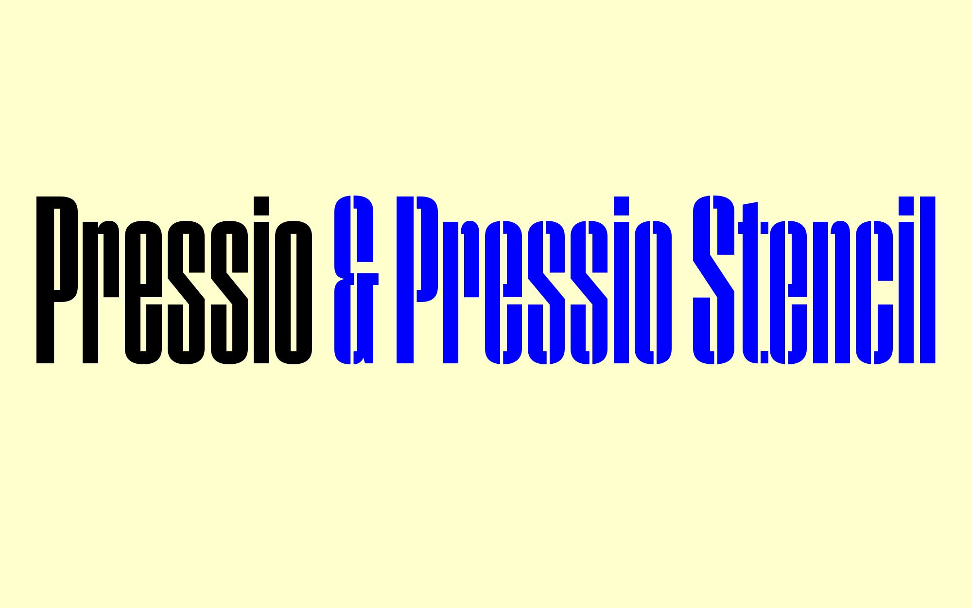 Cover image: Pressio Typeface