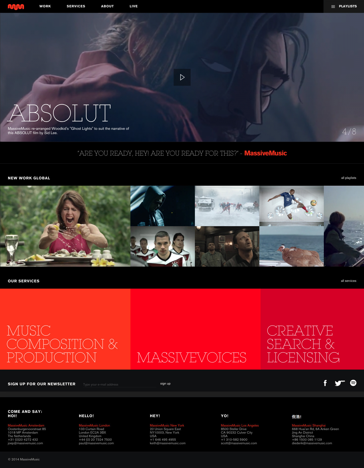 Cover image: MassiveMusic Website (2013)