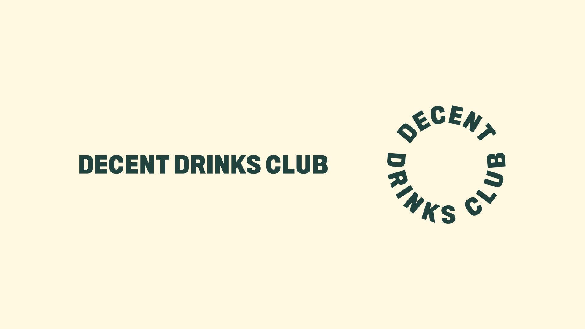 Cover image: Decent Drinks Club branding