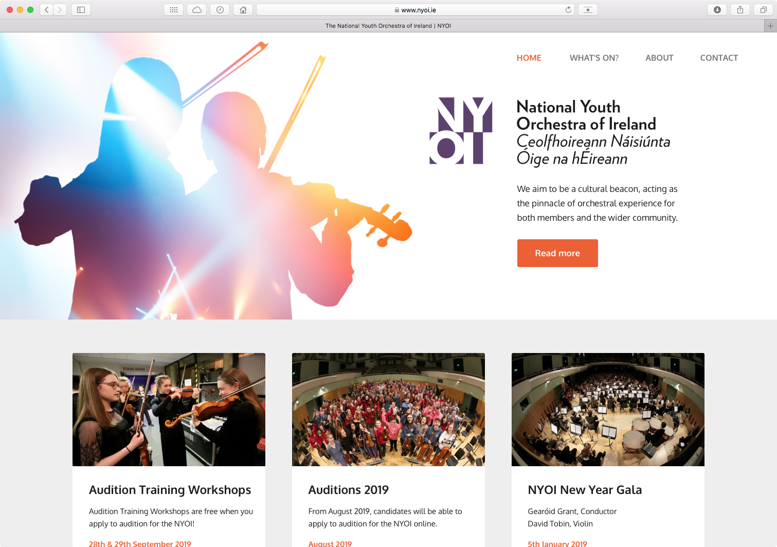 Cover image: National Youth Orchestra website