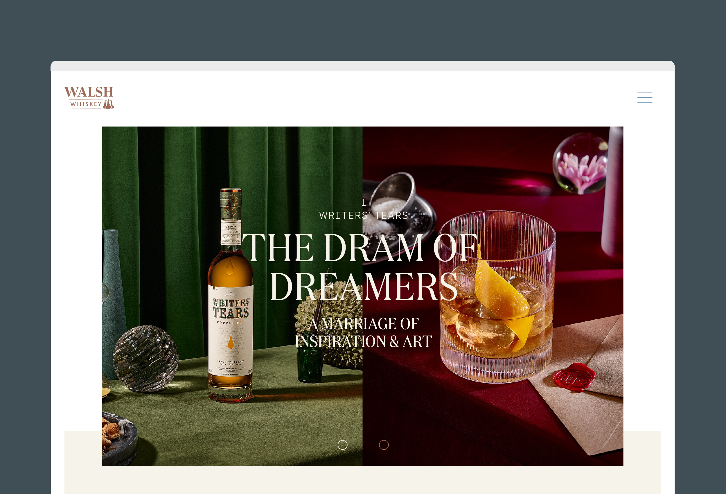 Cover image: Walsh Whiskey Website