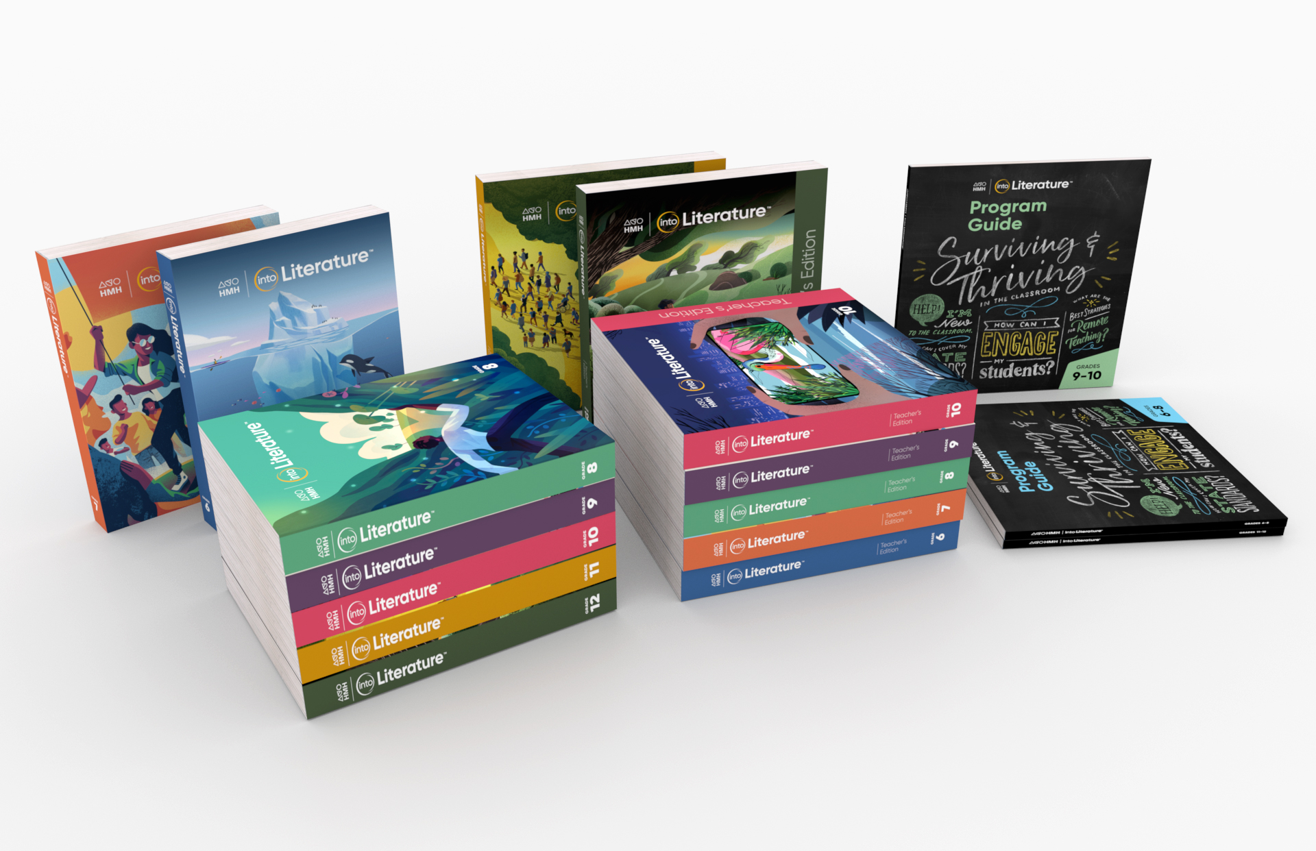 Cover image: Into Literature (Florida) curriculum books, Grades 6-12