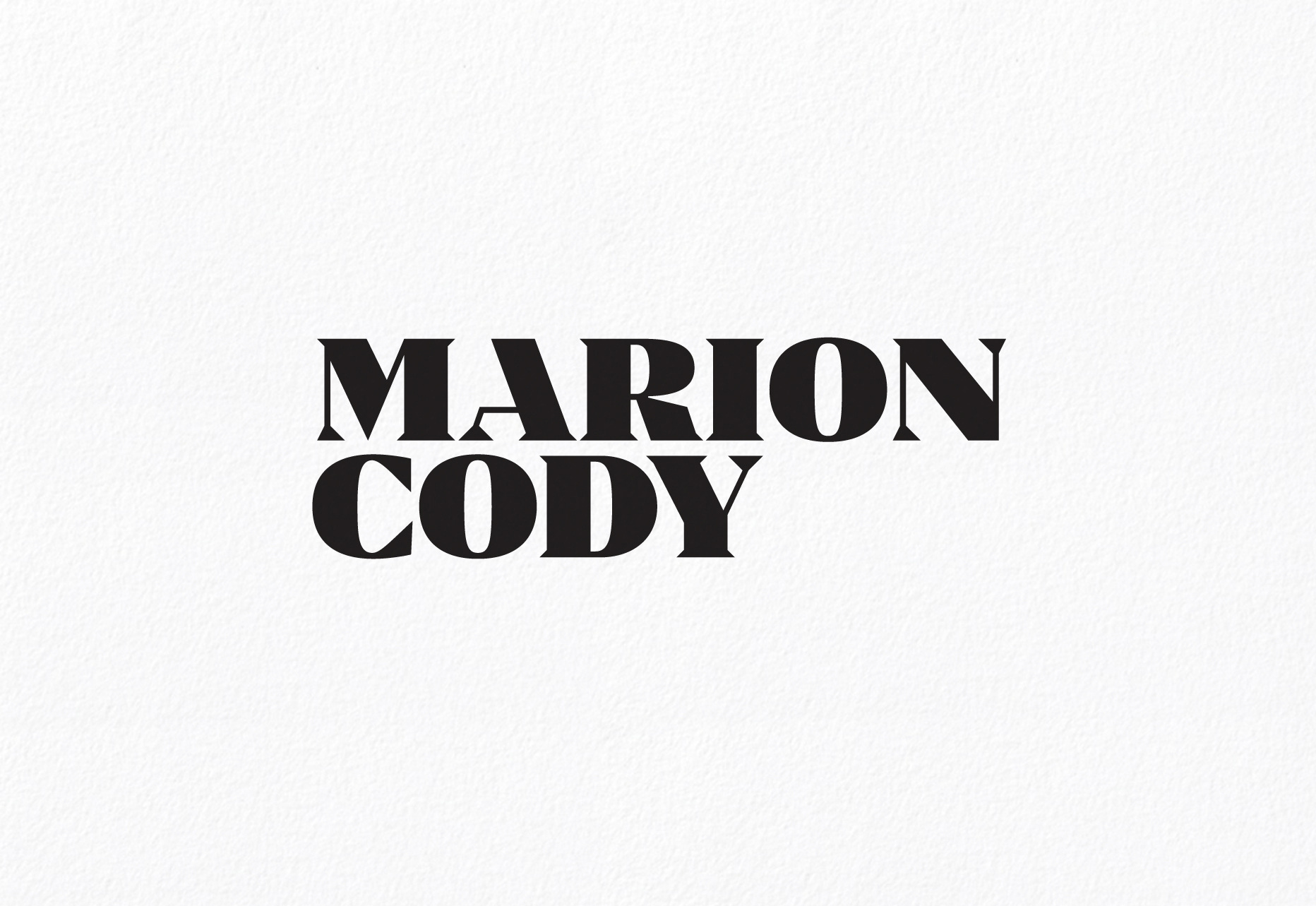 Cover image: Marion Cody Identity (2015)