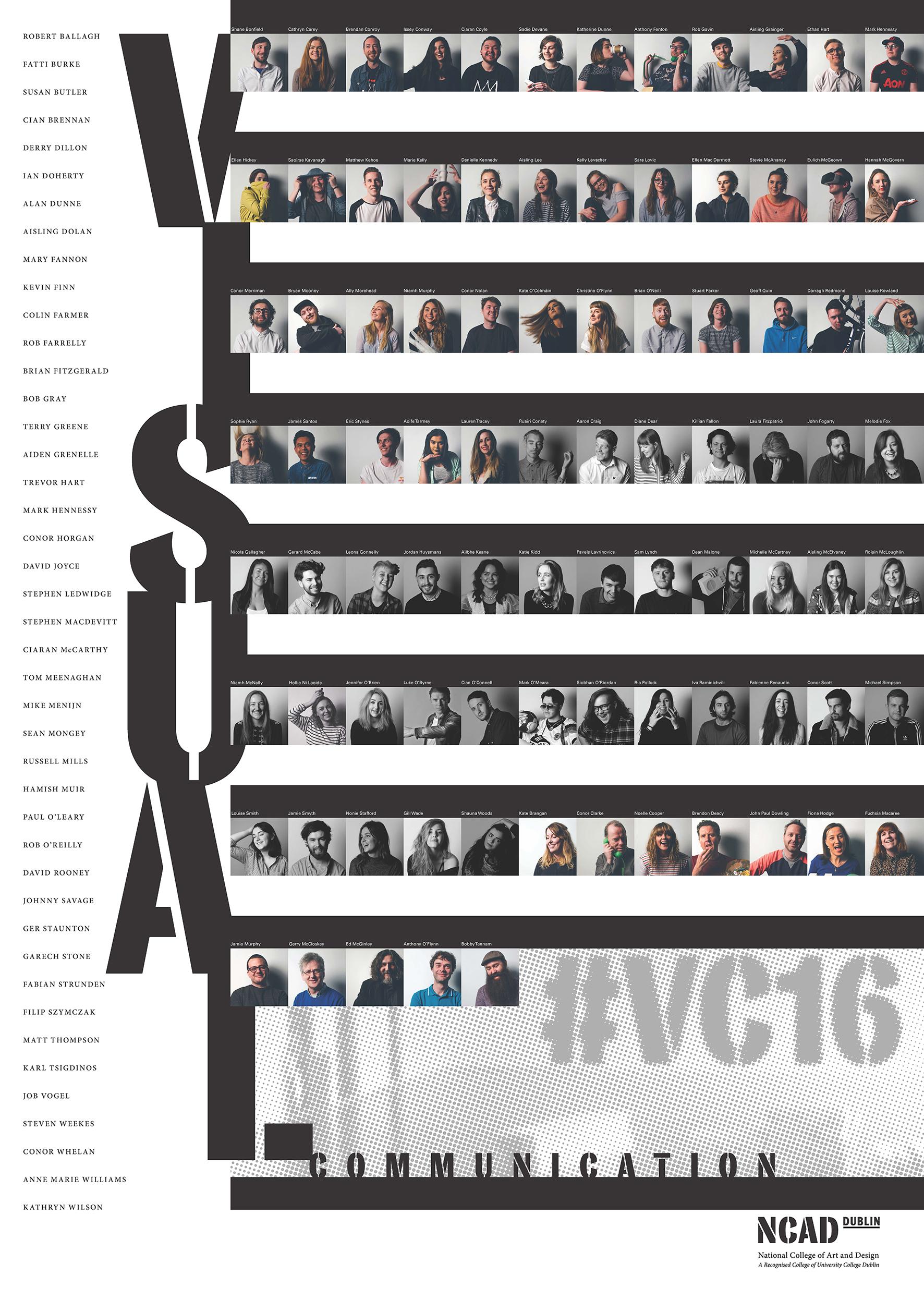 Cover image: NCAD Visual Communication Graduate Show 2016