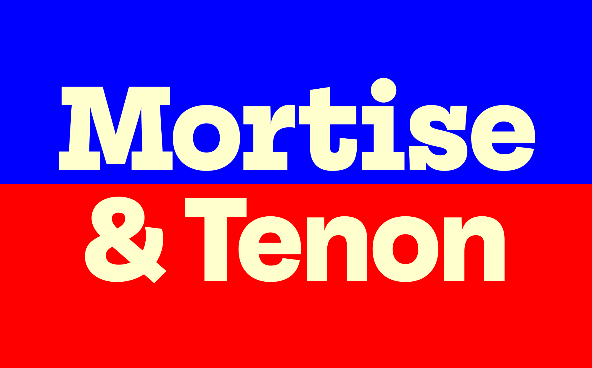 Cover image: Mortise & Tenon