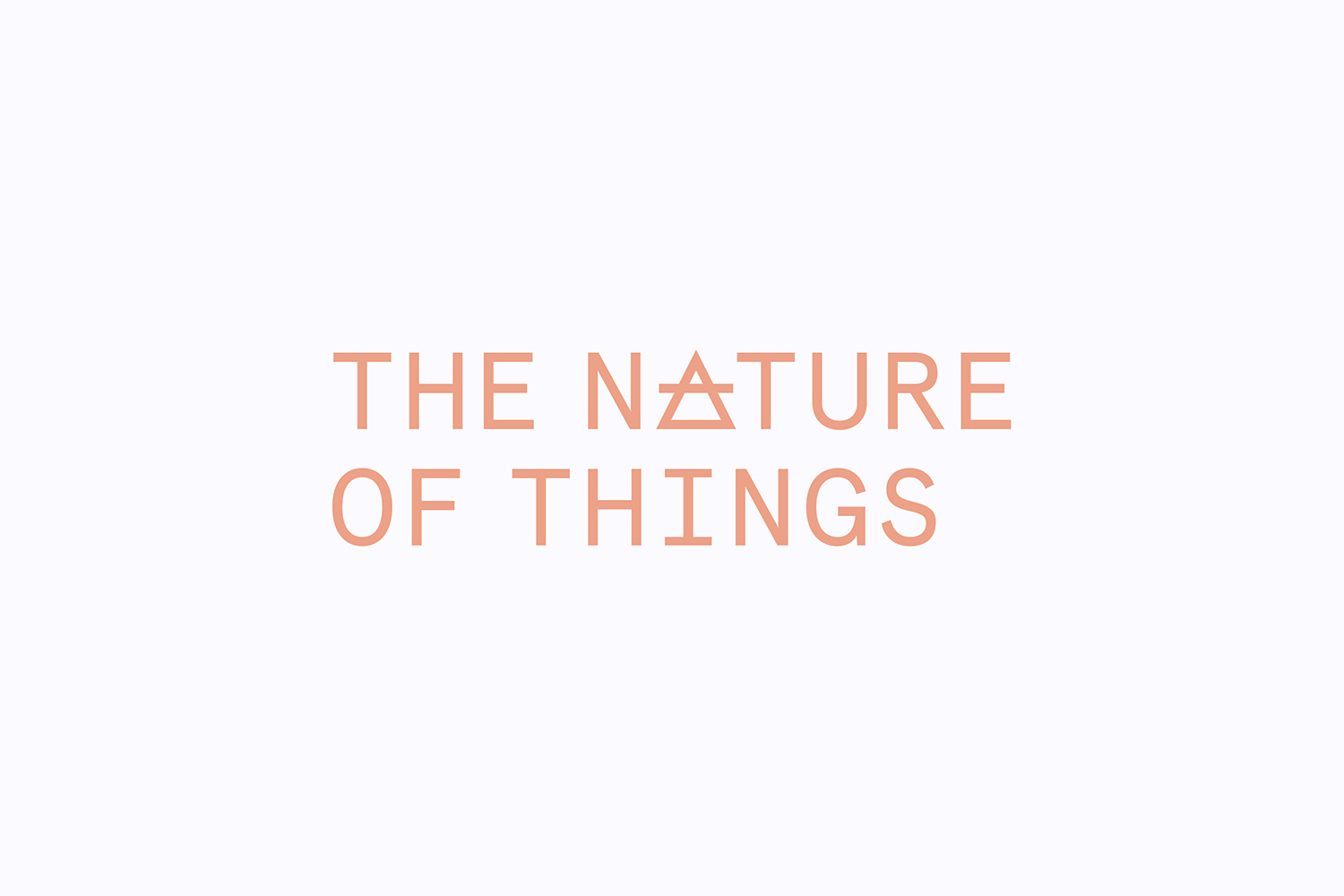 Cover image: The Nature of Things