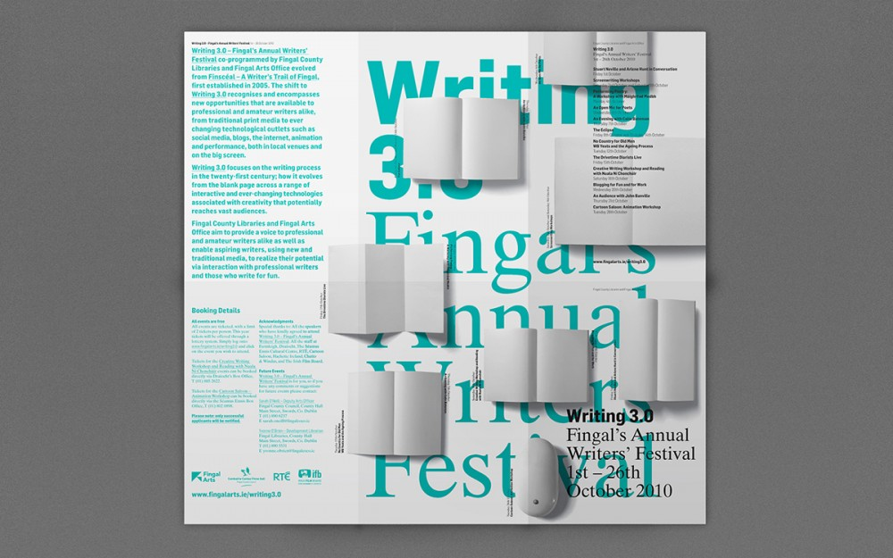 Cover image: Writing3.0 – Fingals Writer's Festival