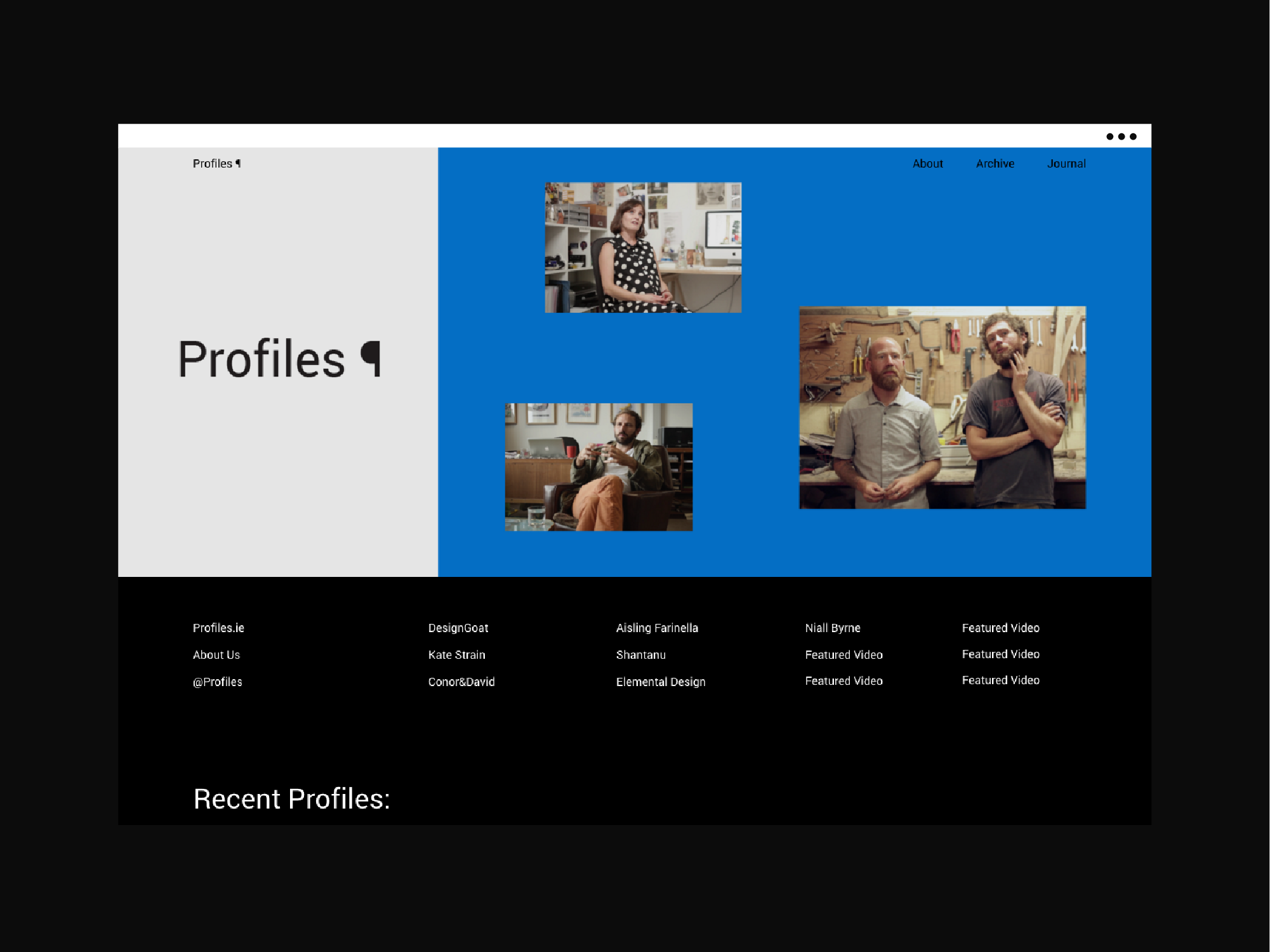Cover image: Profiles [2015]