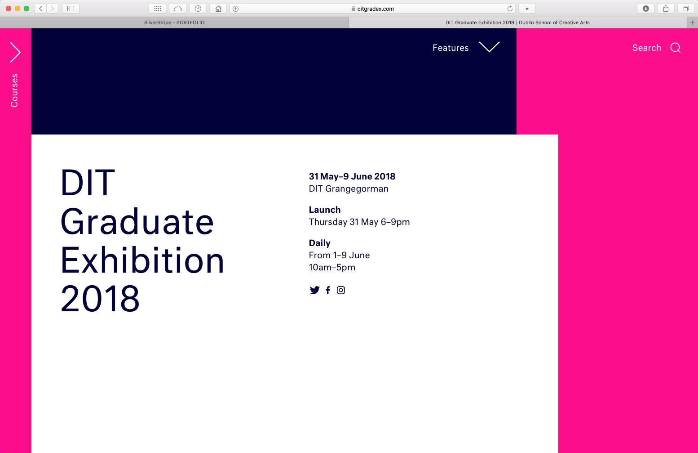 Cover image: DIT Graduate Exhibition Website 2018