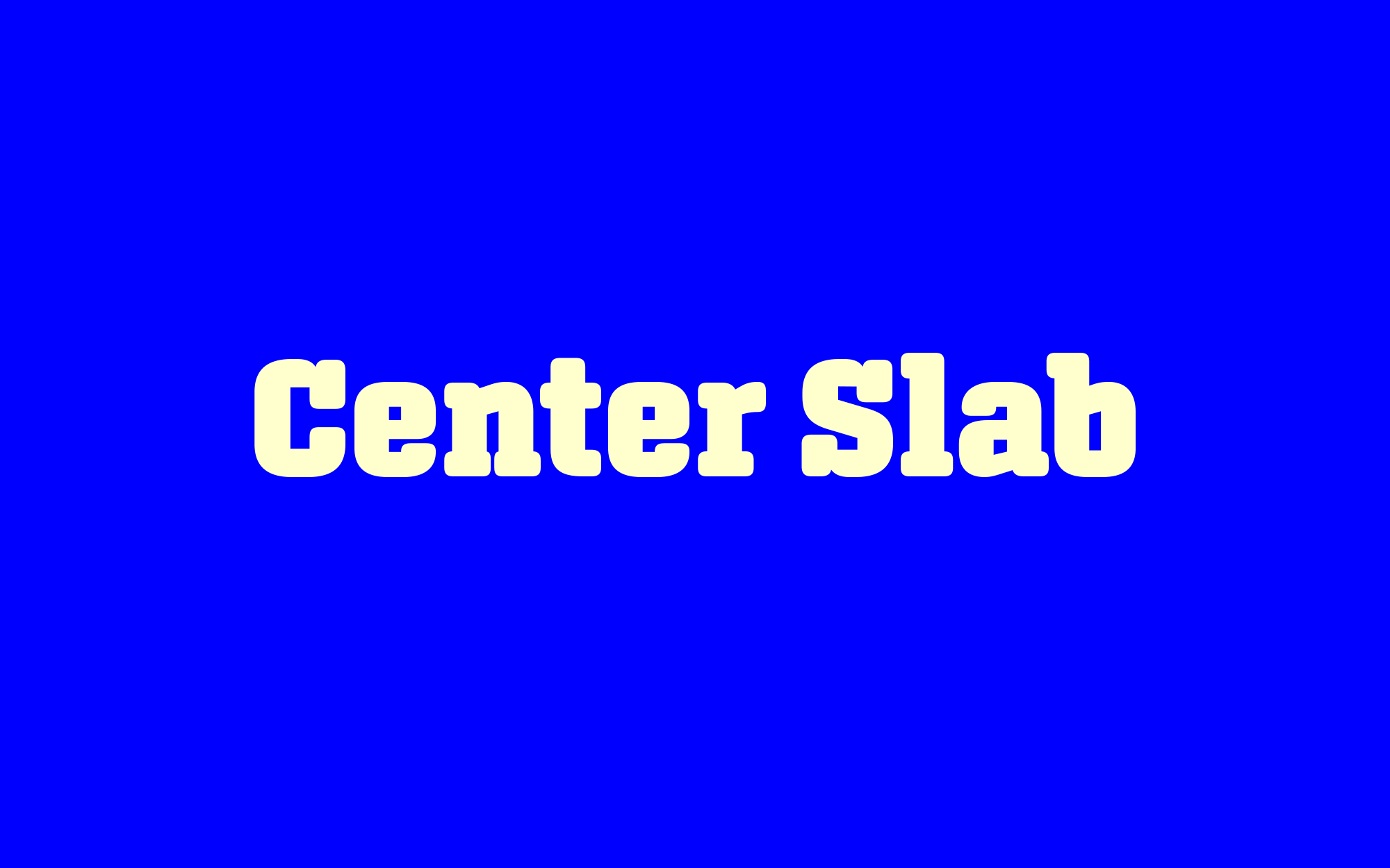 Cover image: Center Slab Typeface