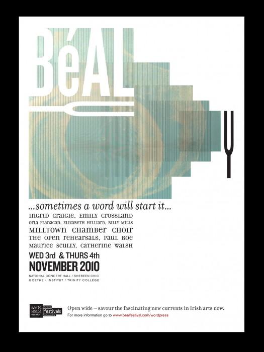 Cover image: Béal Festival – Poster, flyer, logo