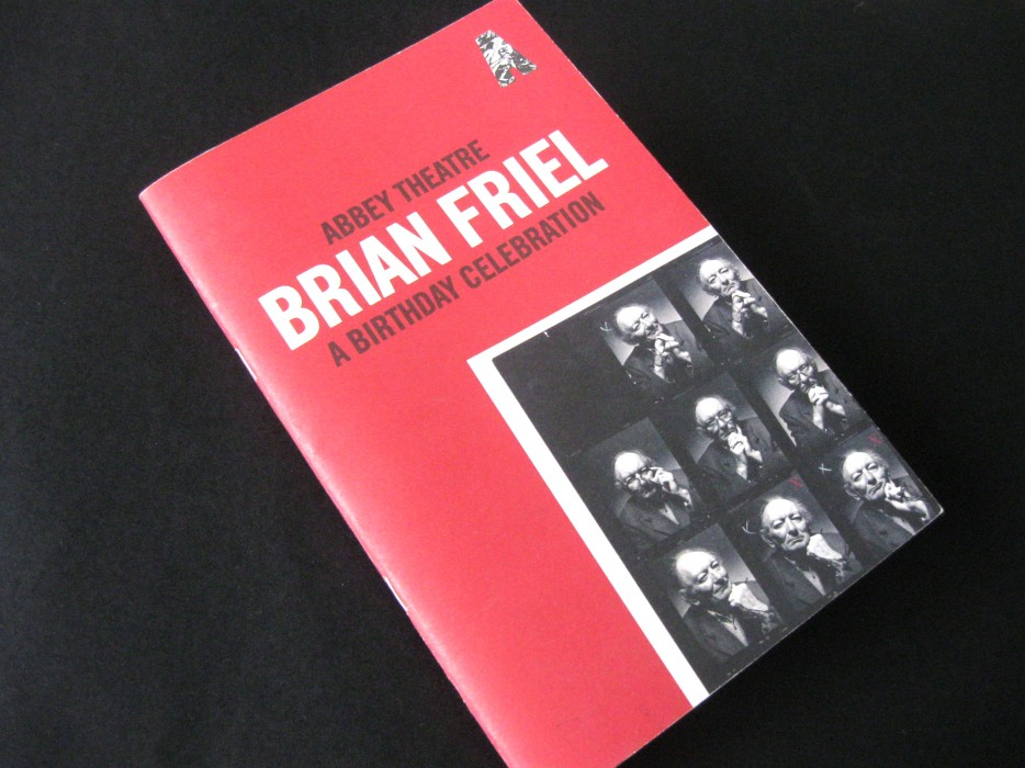 Cover image: Abbey Theatre – Brian Friel Programme