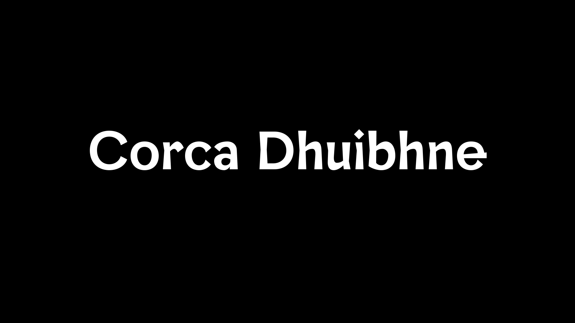 Cover image: Corca Dhuibhne Typeface