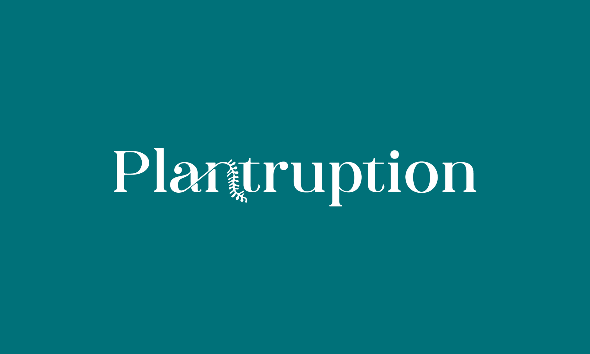 Cover image: Plantruption