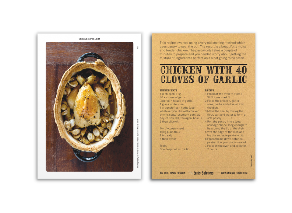 Cover image: Ennis Butcher recipe cards