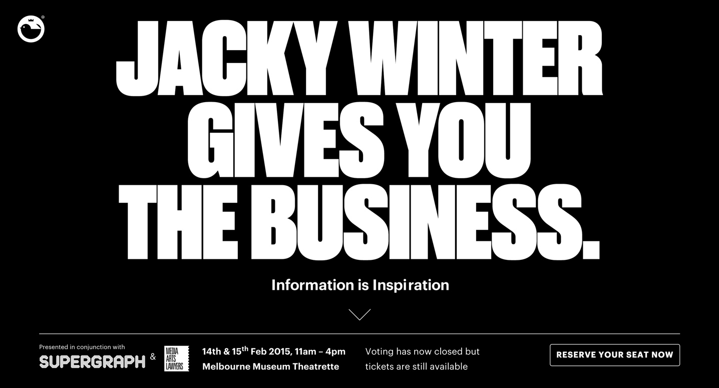 Cover image: Jacky Winter Gives You The Business (2014)