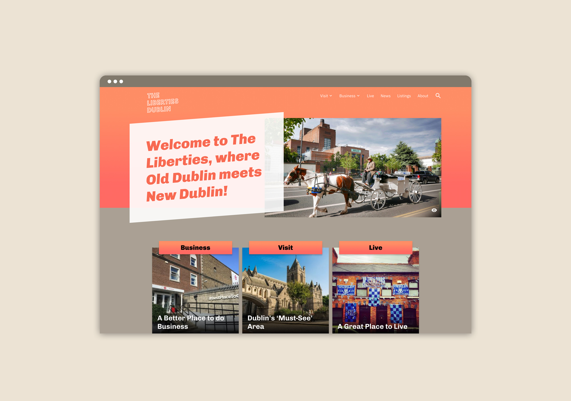 Cover image: The Liberties Website
