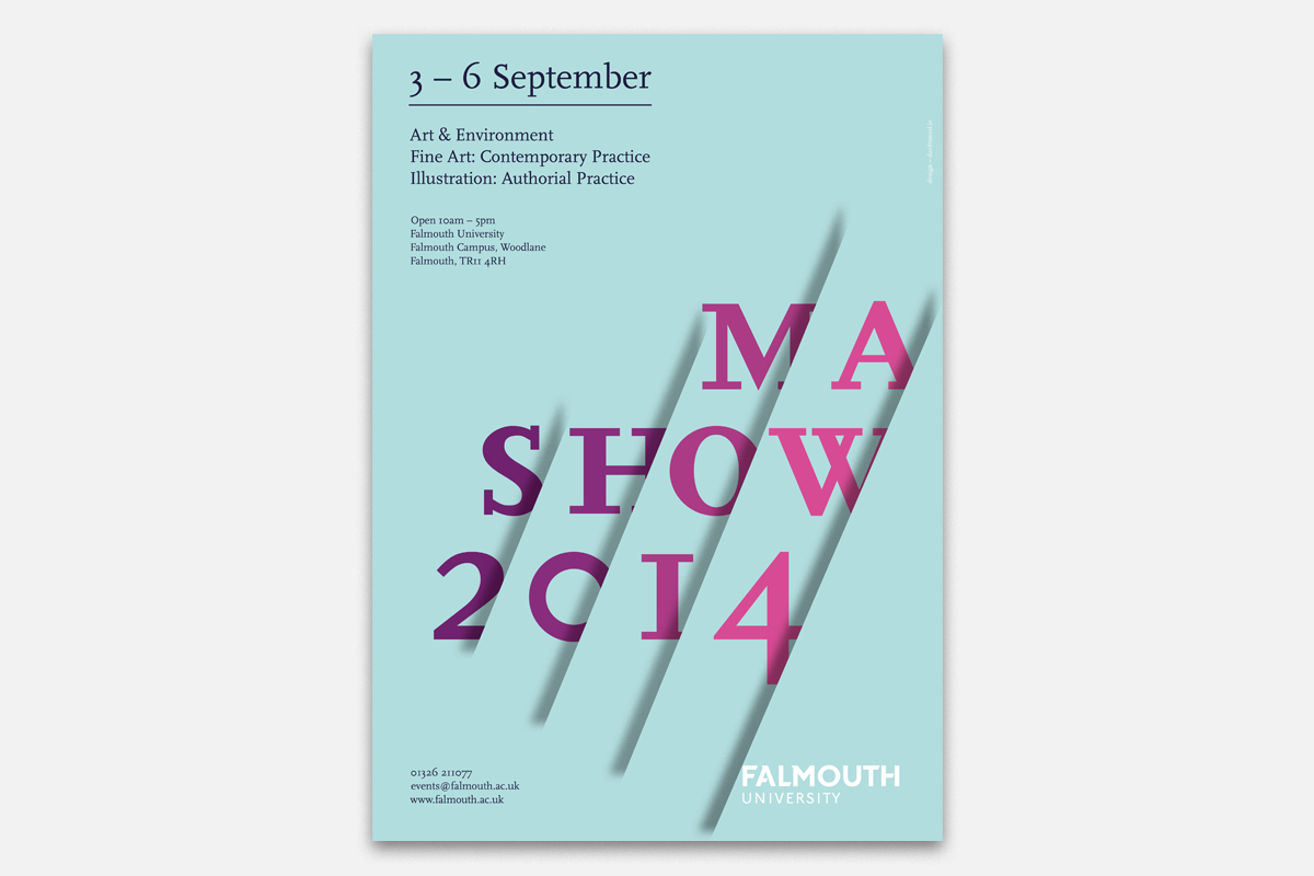 Cover image: Falmouth University MA Show Identity