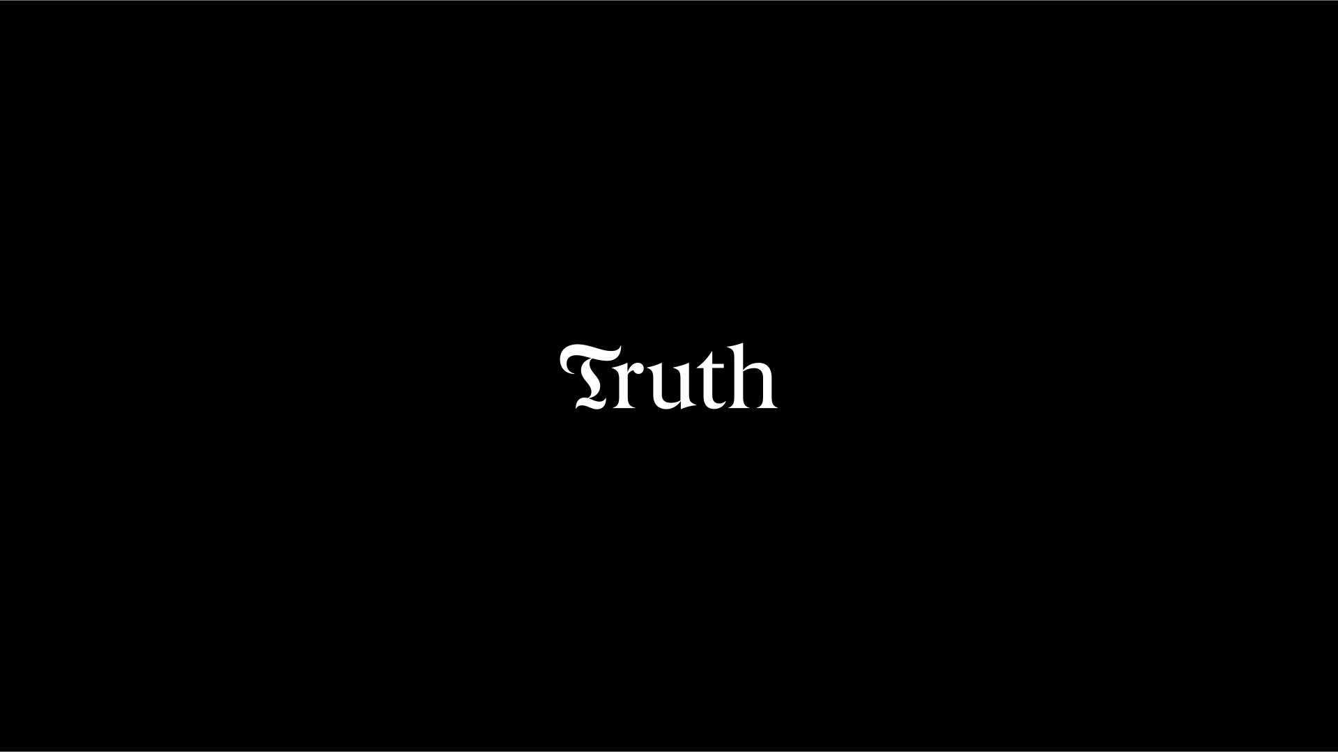 Cover image: Truth