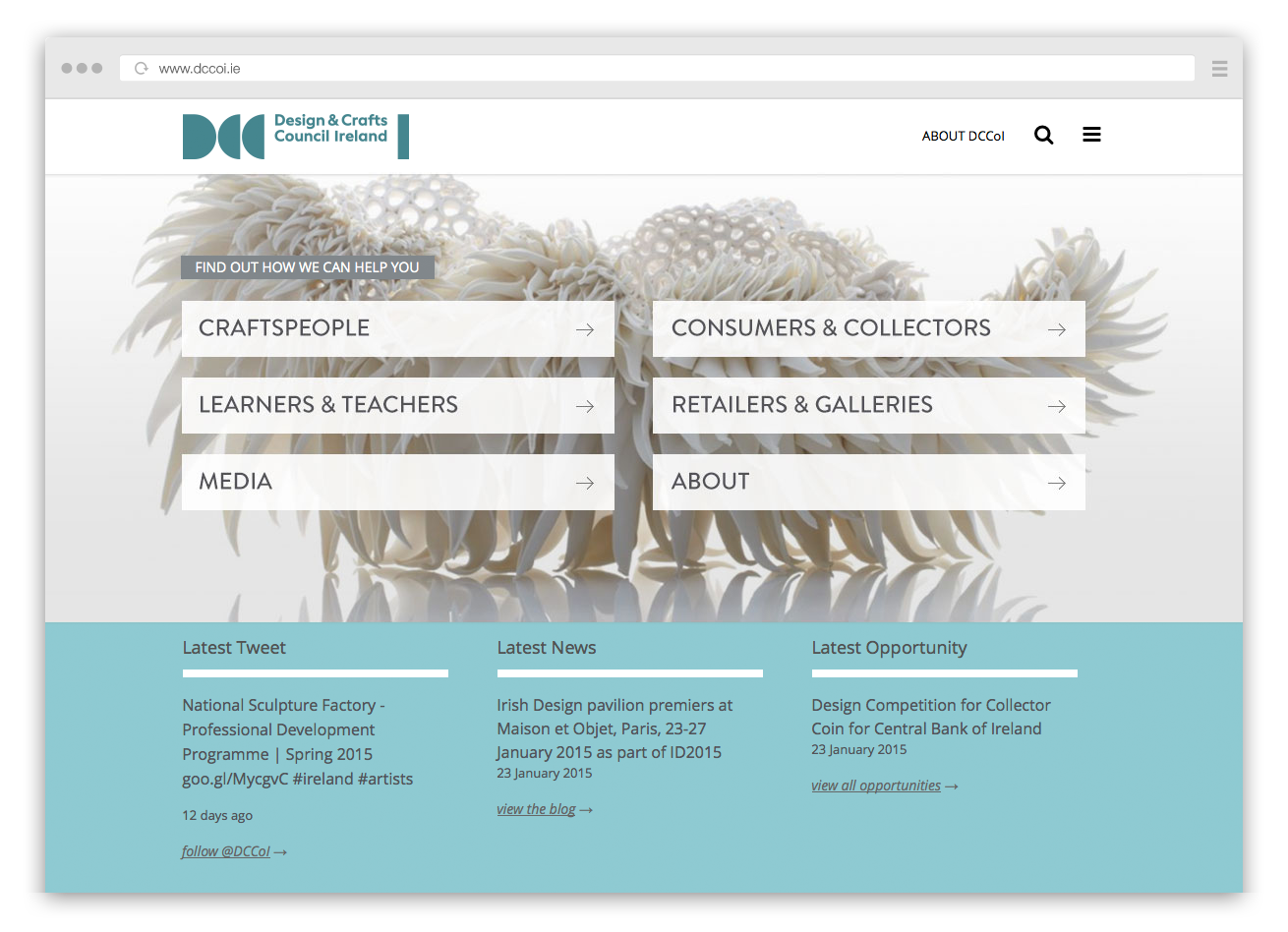 Cover image: Design & Crafts Council of Ireland Website (2014)