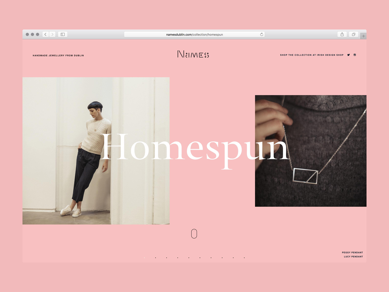 Cover image: Names –Homespun