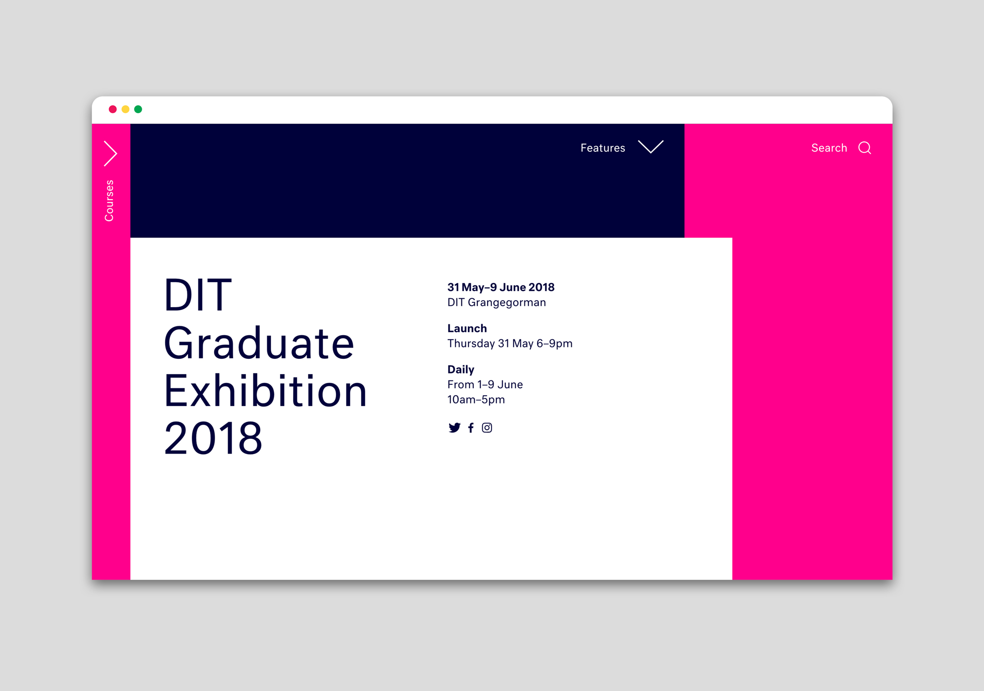 Cover image: DIT Graduate Exhibition 2018