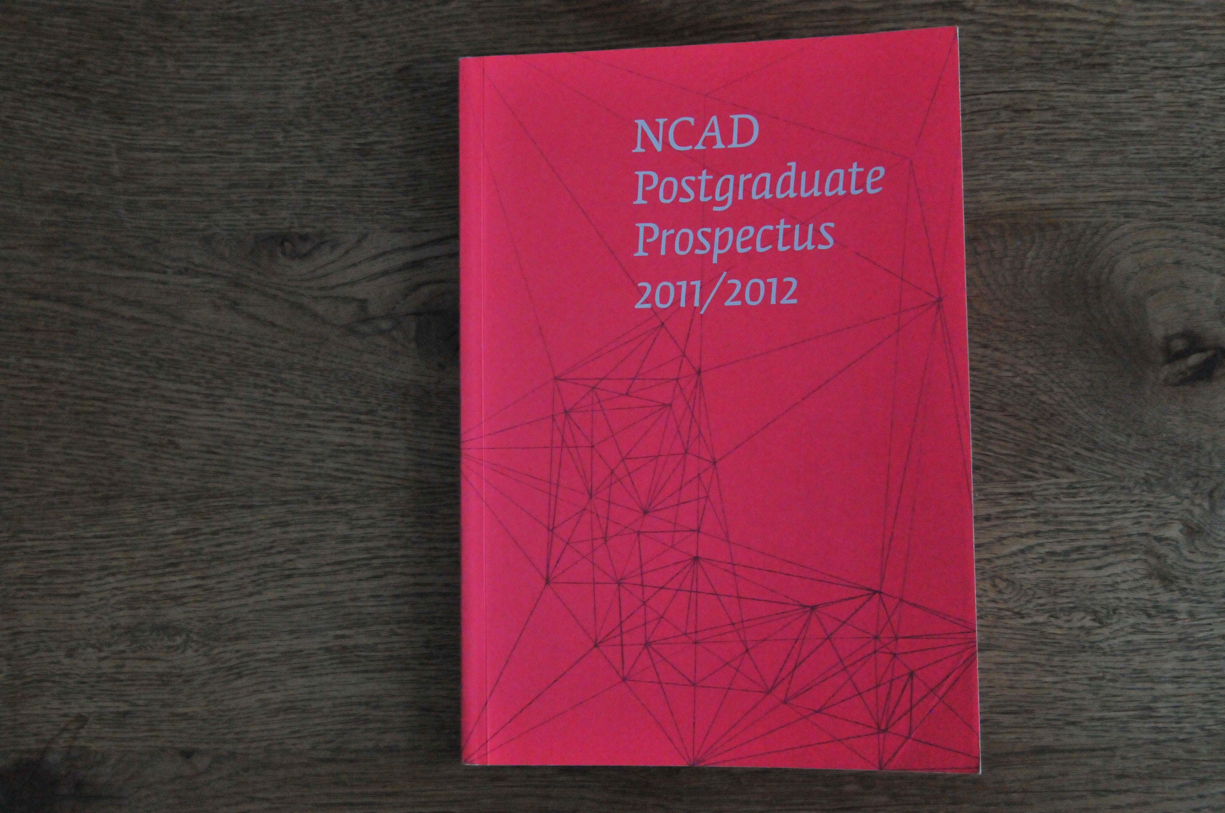 Cover image: NCAD Postgraduate Prospectus 2011/2012