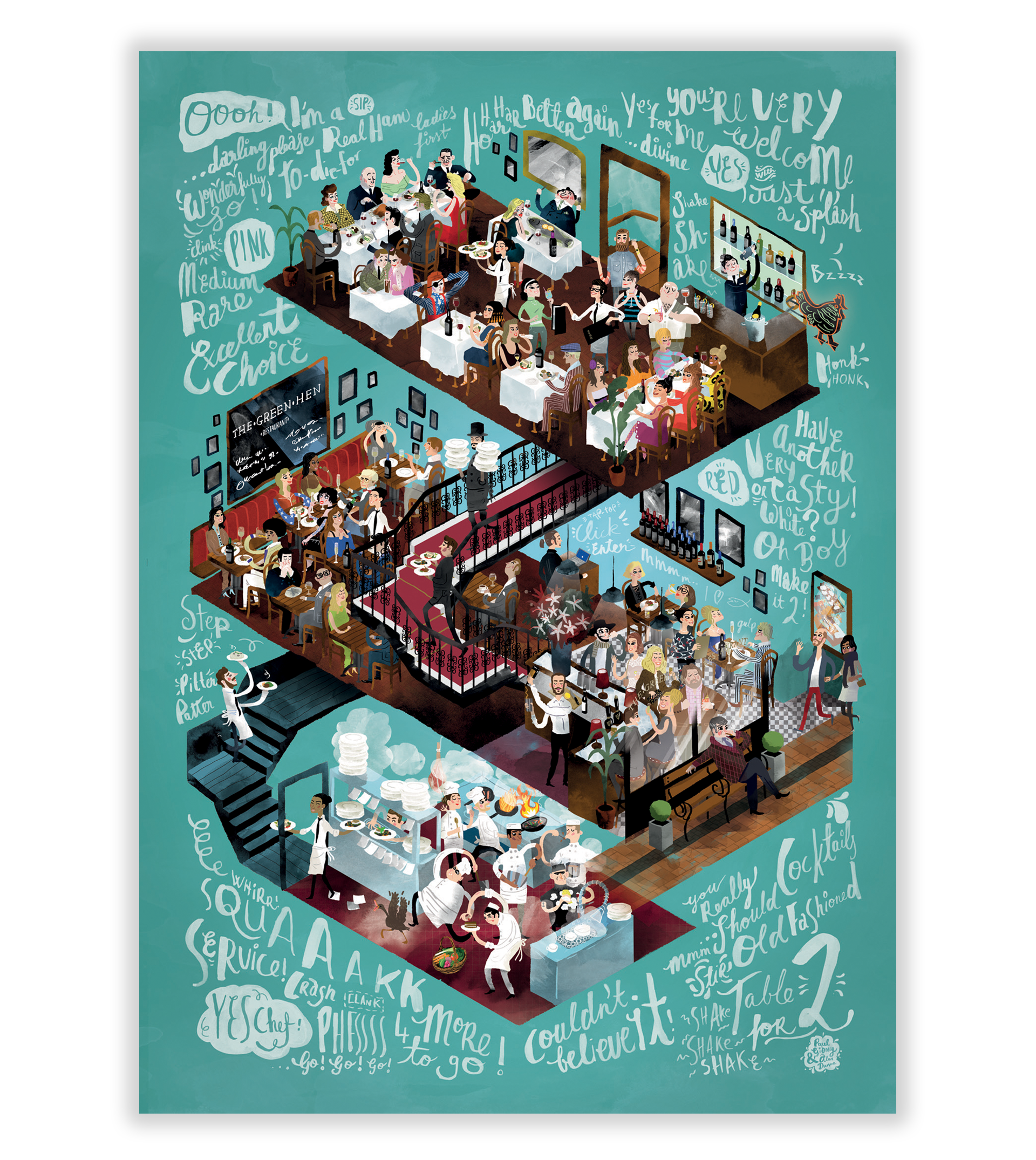 Cover image: The Green Hen Restaurant | Illustration