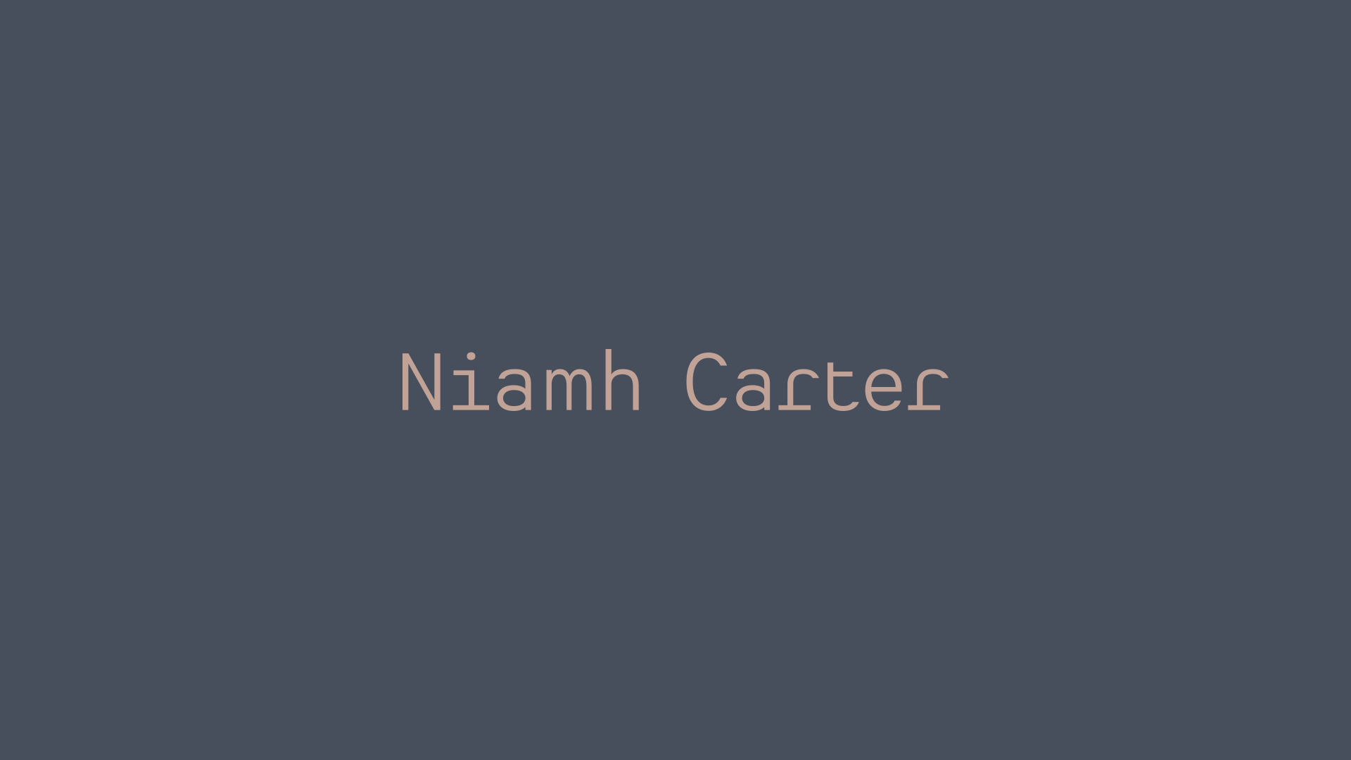 Cover image: Niamh Carter