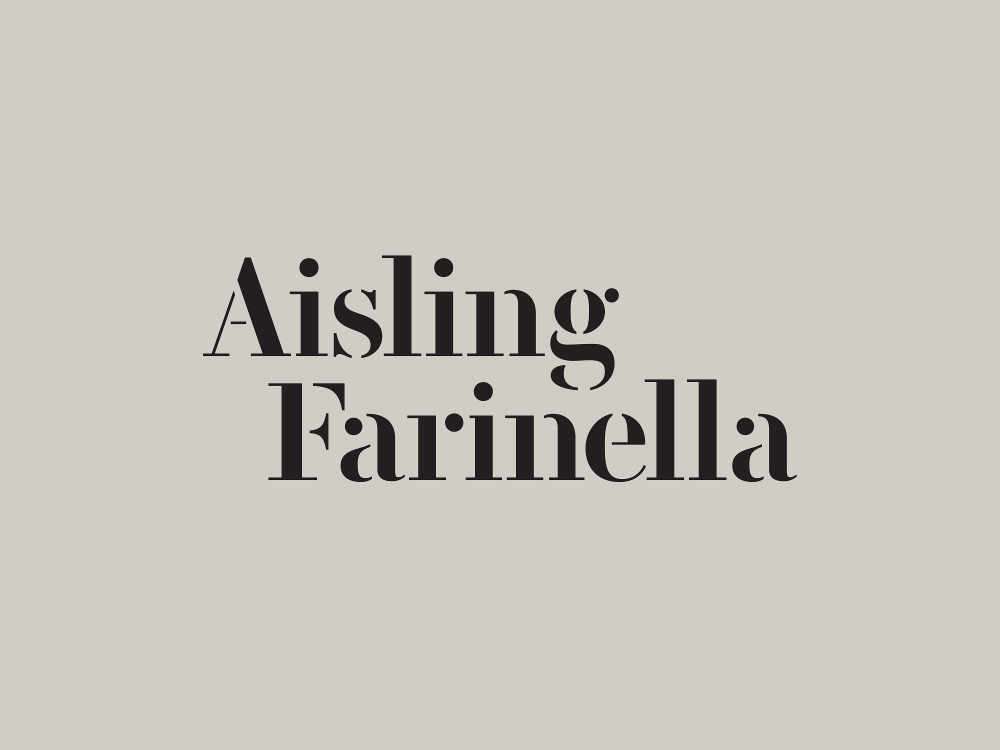 Cover image: Aisling Farinella Identity & Website