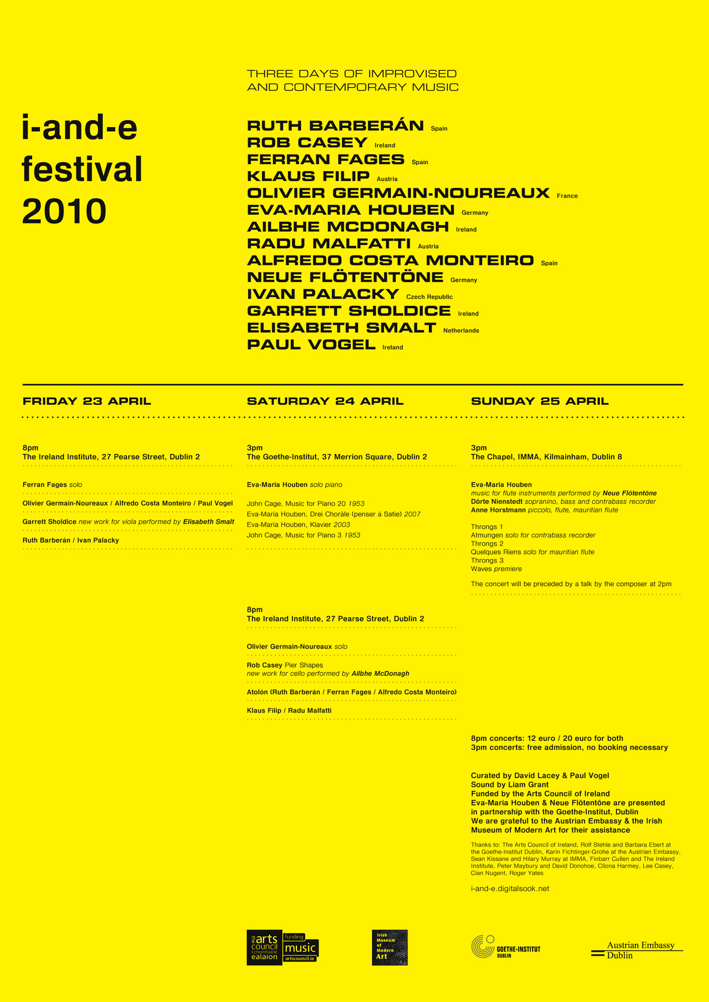 Cover image: i-and-e festival 2010