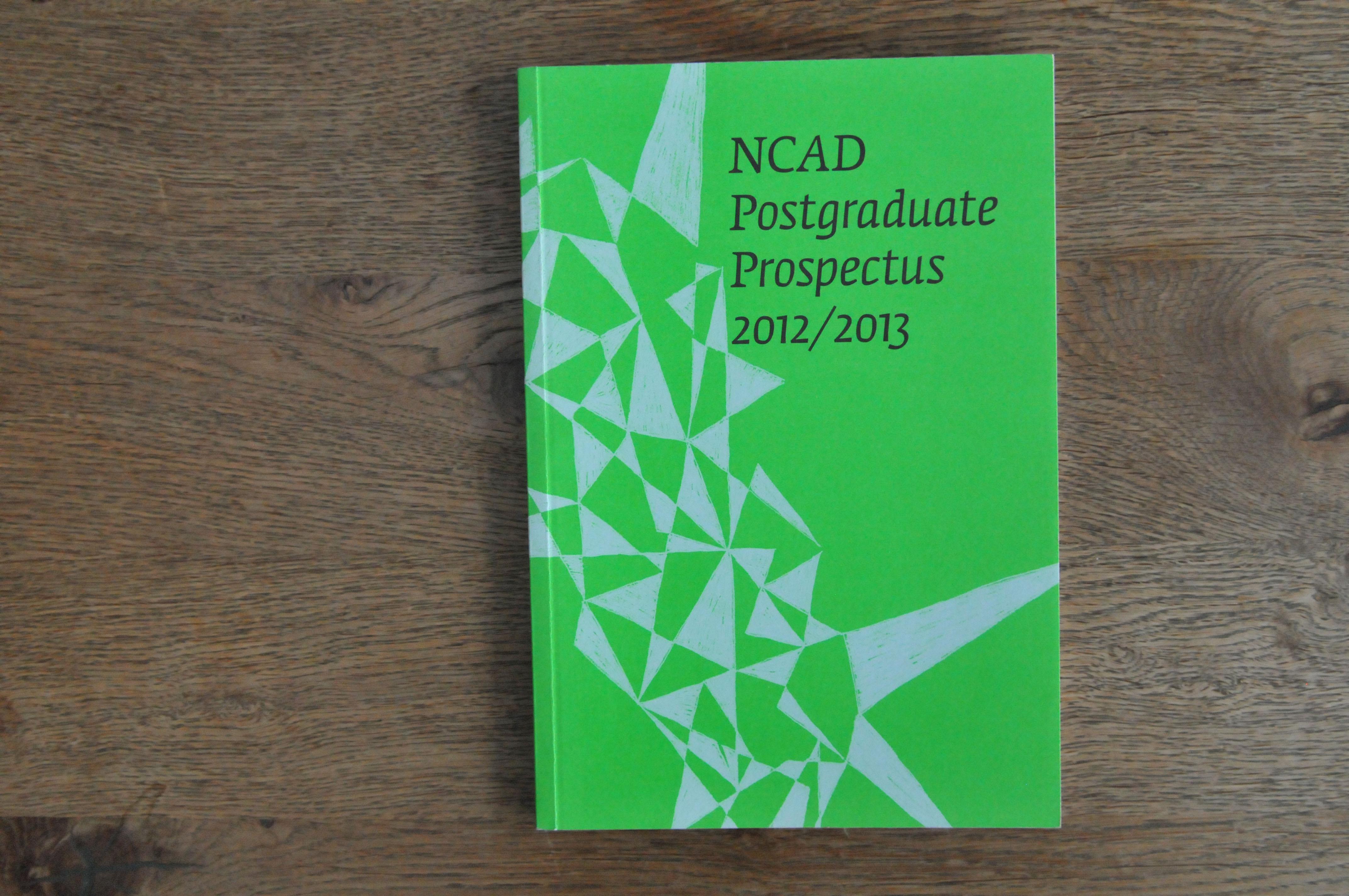 Cover image: NCAD Postgraduate Prospectus 2012/2013